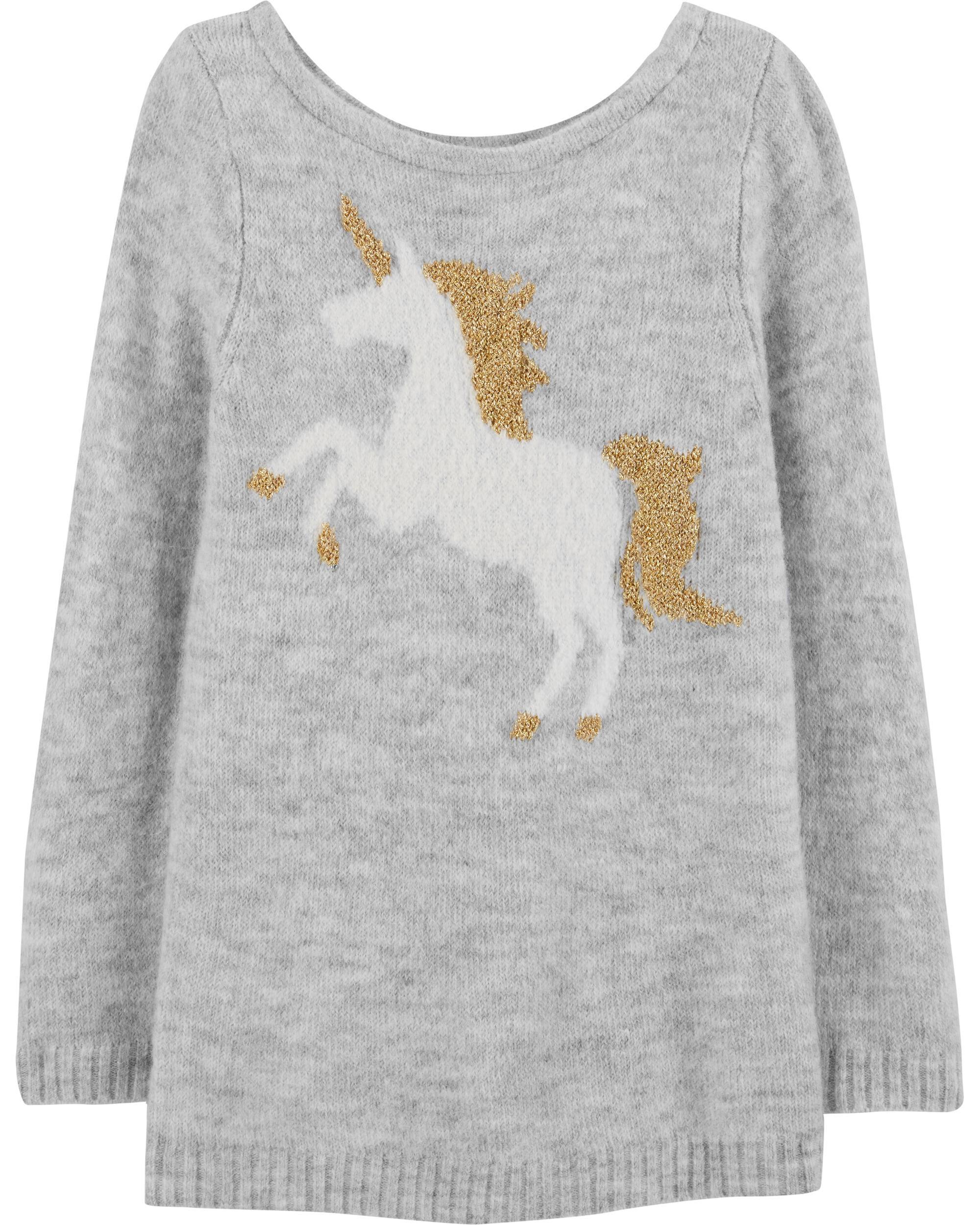 *Clearance*  Glitter Unicorn Sweater