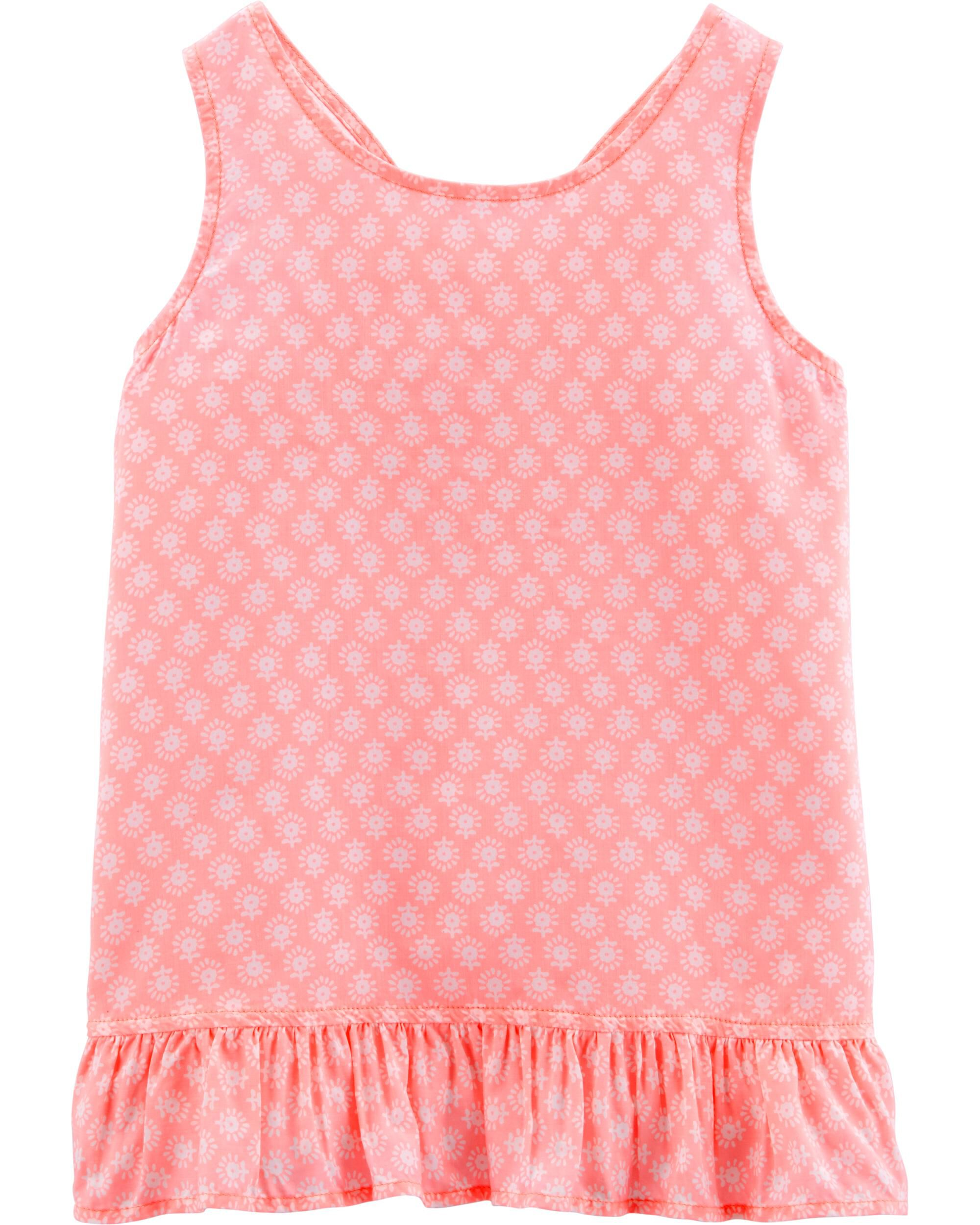 *Clearance*  Neon Floral Criss Cross Tank