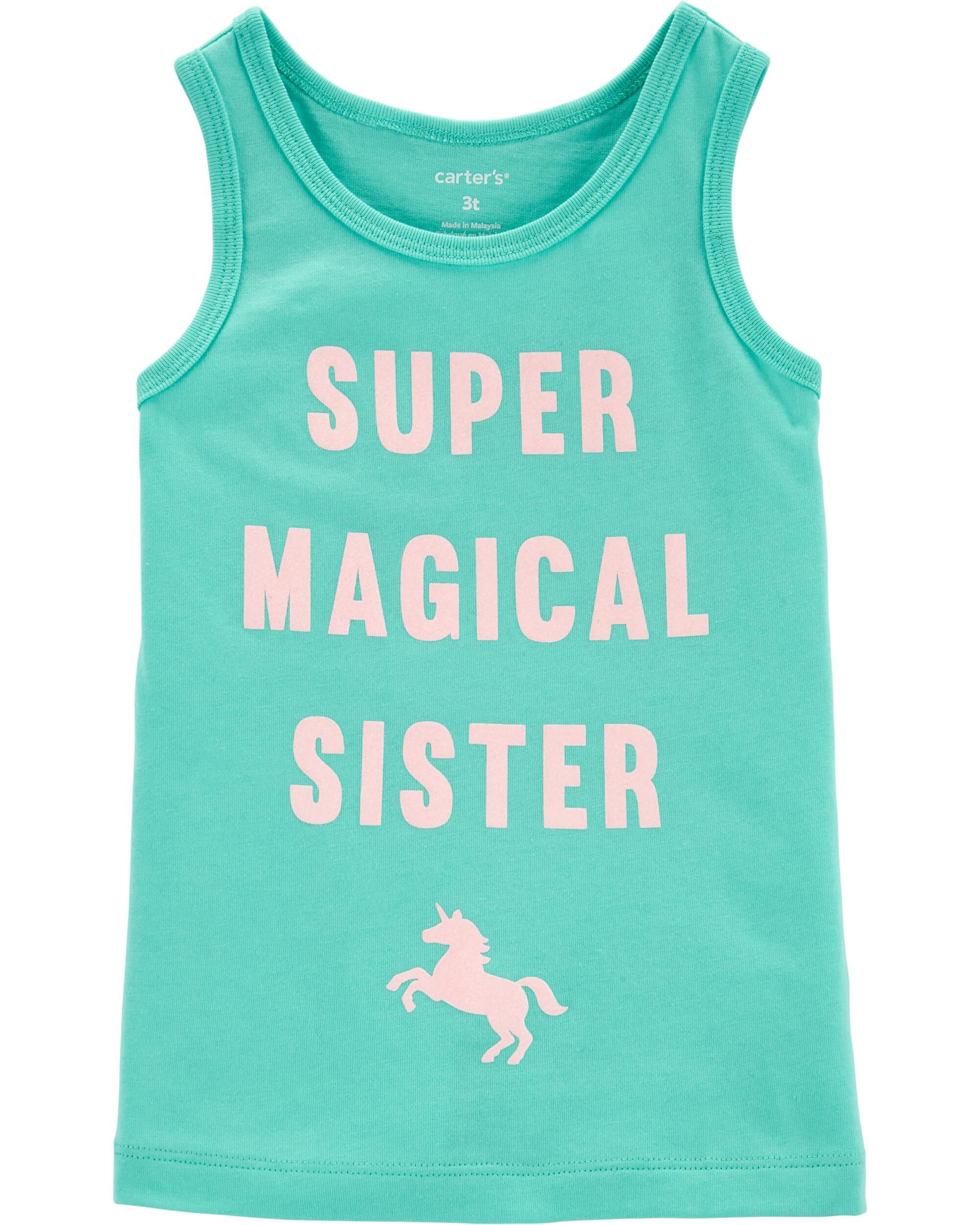 *Clearance*  Super Magical Sister Unicorn Tank