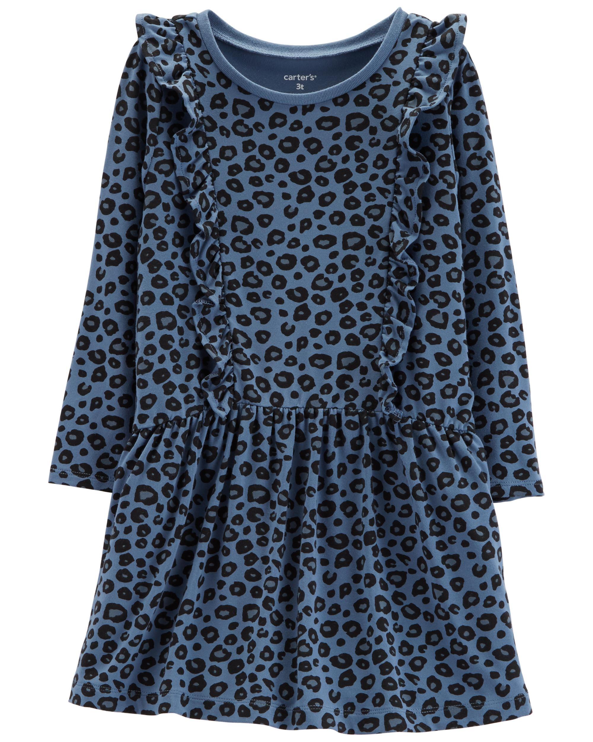 *Clearance*  Leopard Ruffle Dress