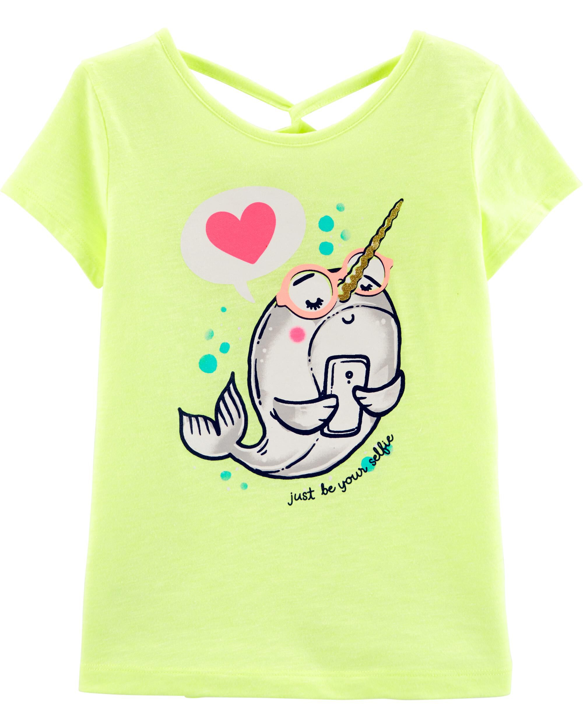 *Clearance*  Neon Narwhal Slub Jersey Top