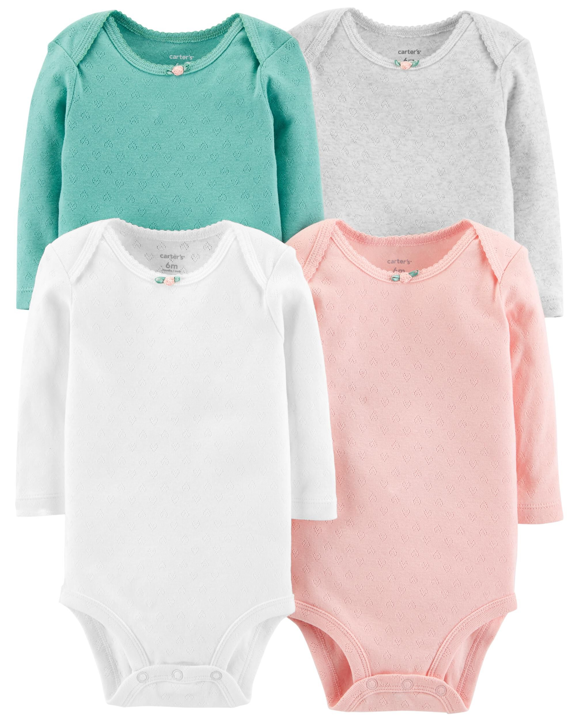 *Clearance*  4-Pack Hearts Original Bodysuits