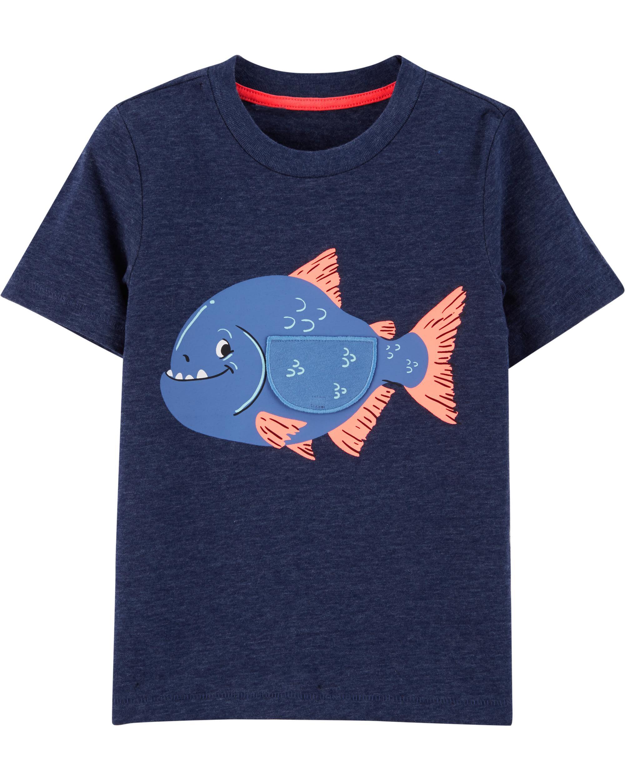*Clearance*  Interactive Fish Snow Yarn Jersey T...