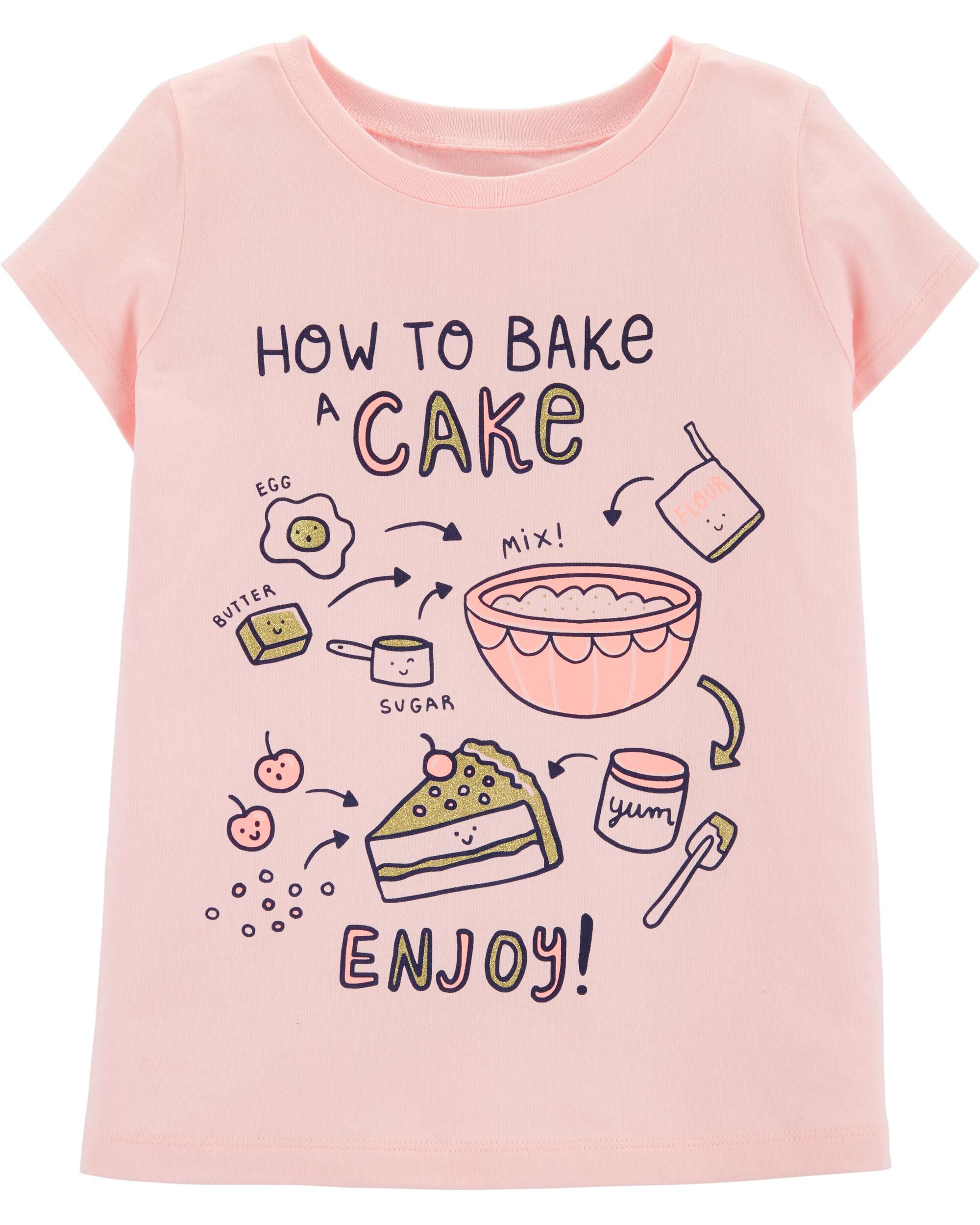 *Clearance*  Glitter How To Bake A Cake Jersey T...