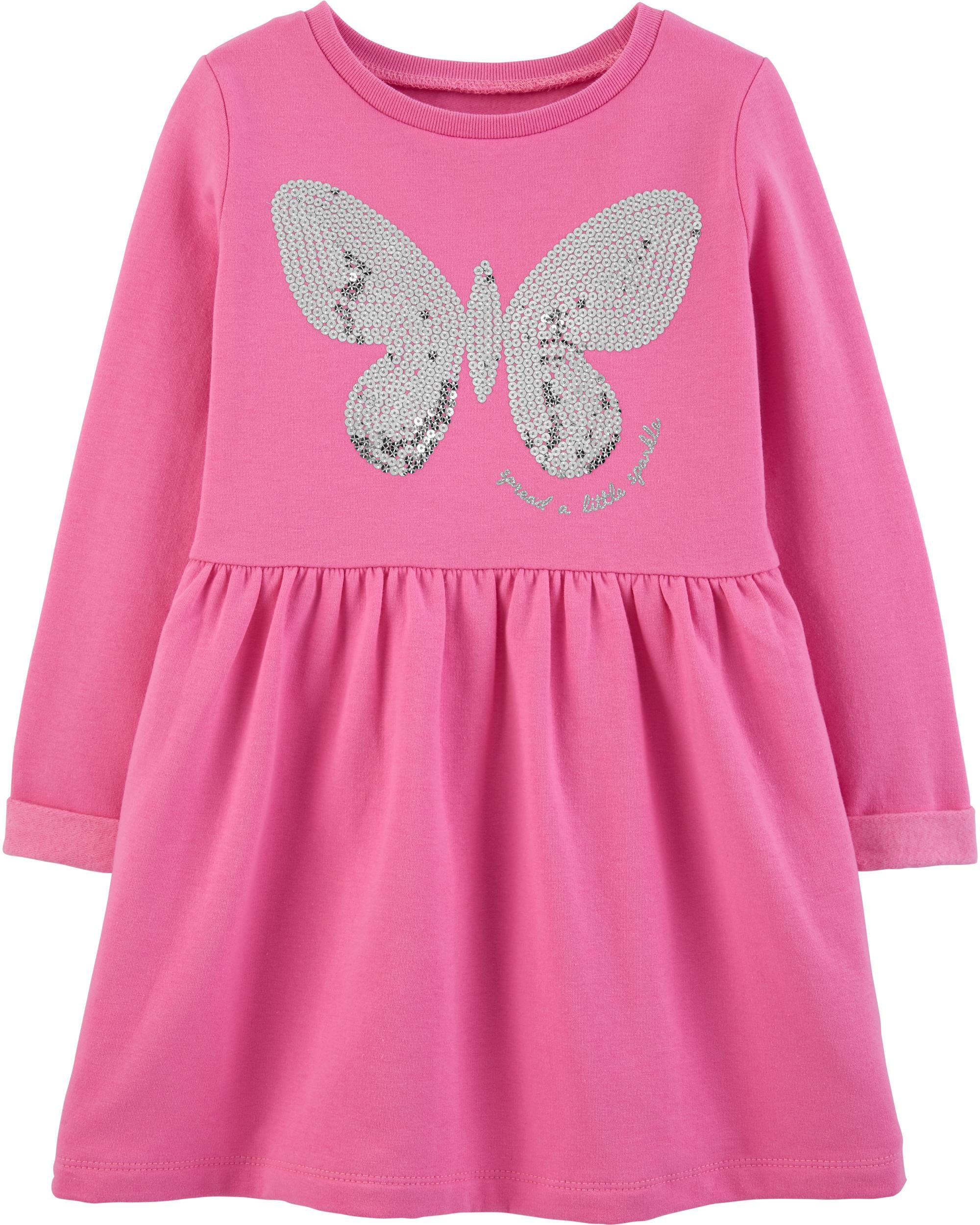 *Clearance*  Sequin Butterfly Fleece Dress