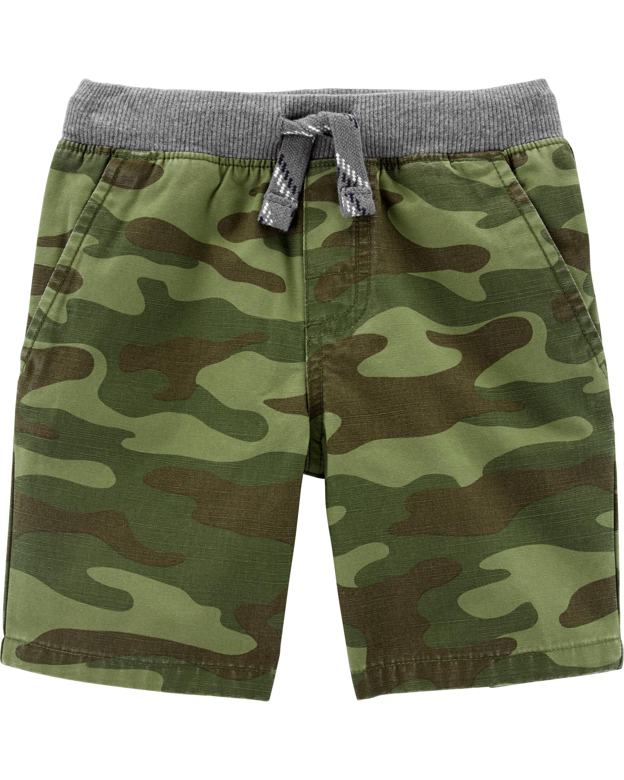 *Clearance*  Camo Easy Pull-On Dock Shorts