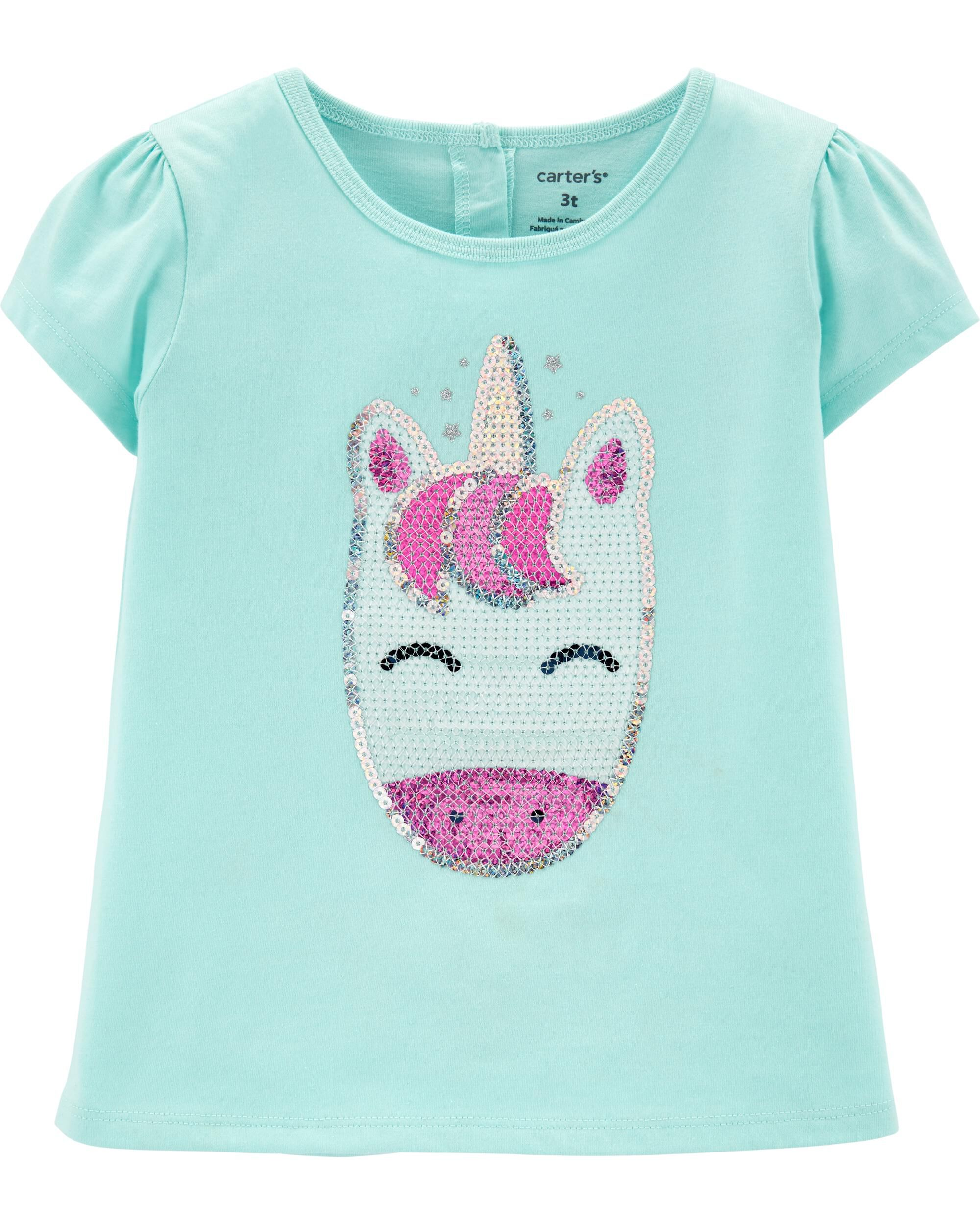 *Clearance*  Sequin Unicorn Babydoll Top