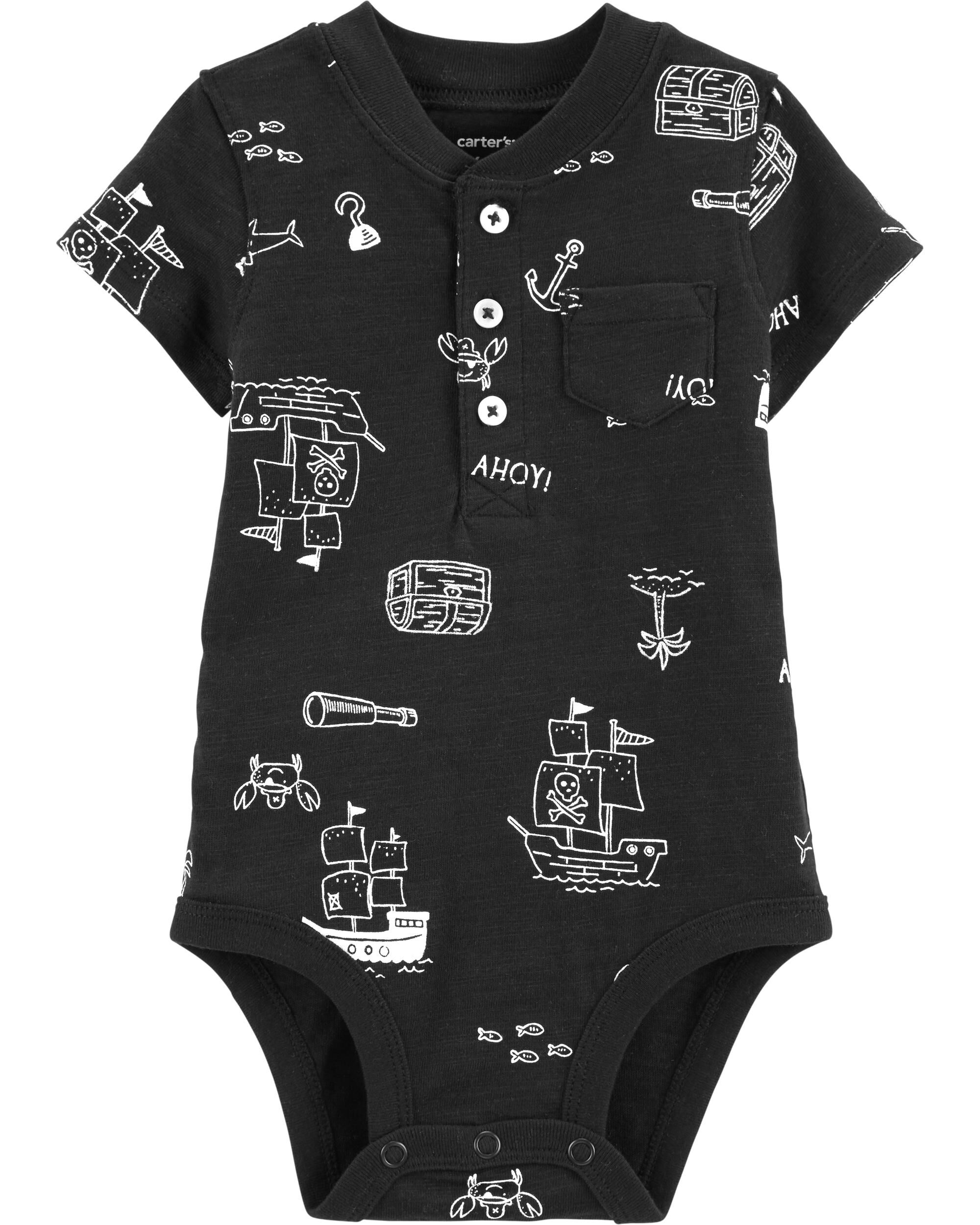 *Clearance*  Pirate Henley-Style Bodysuit