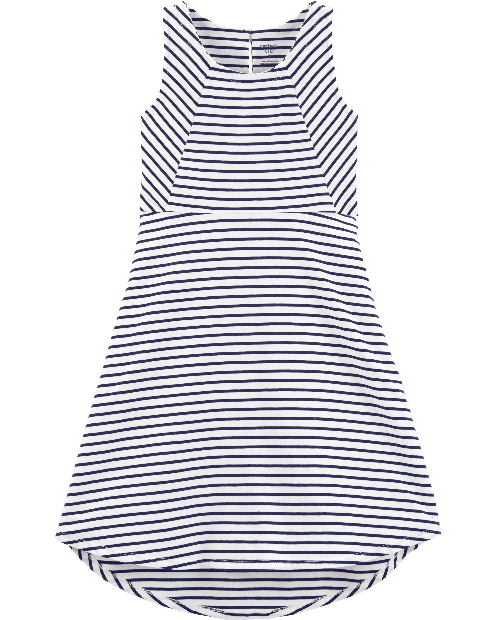 *Clearance*  Striped Hi-Lo Tank Dress