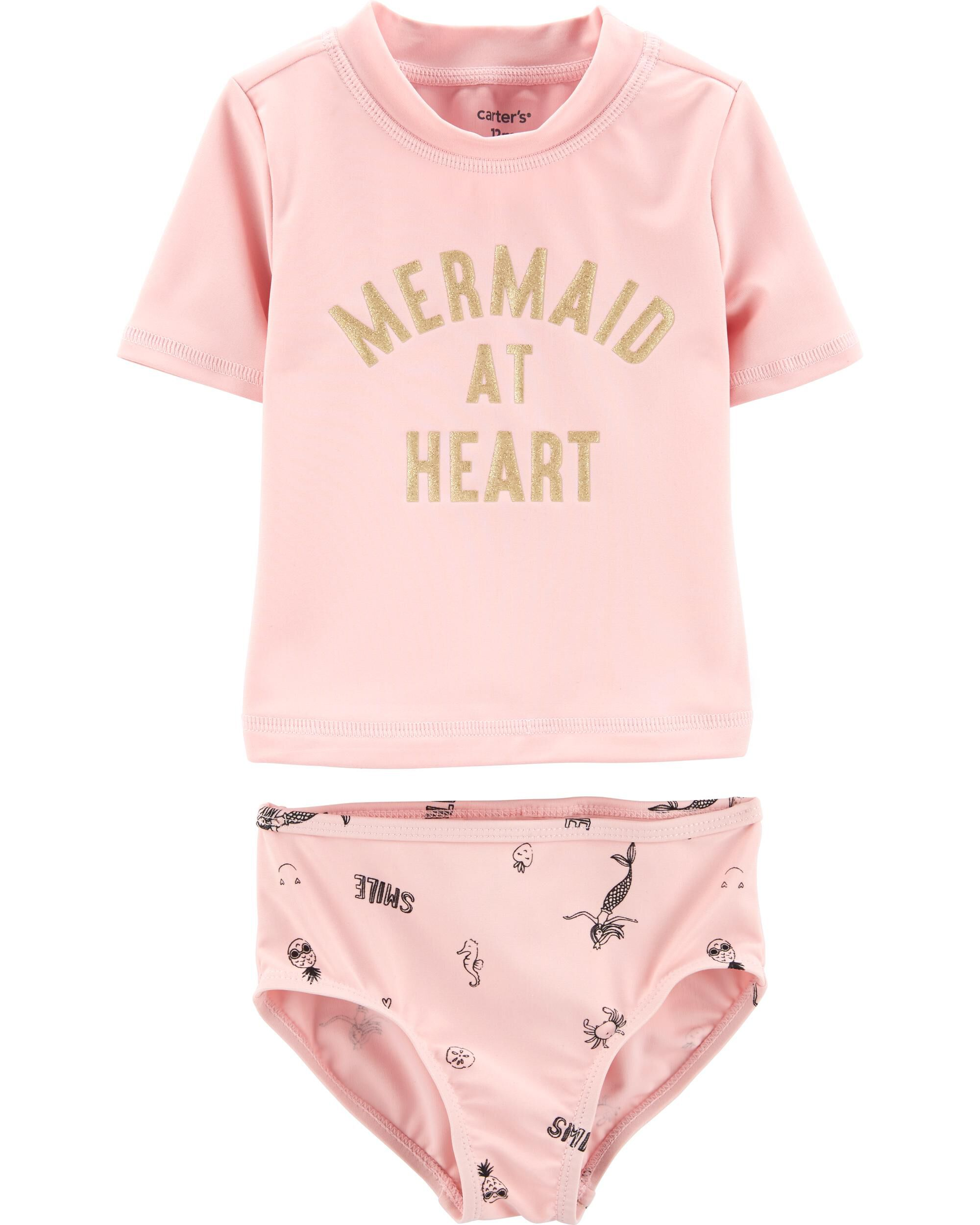 *Clearance*  Carter's 2-Piece Mermaid Rashguard...