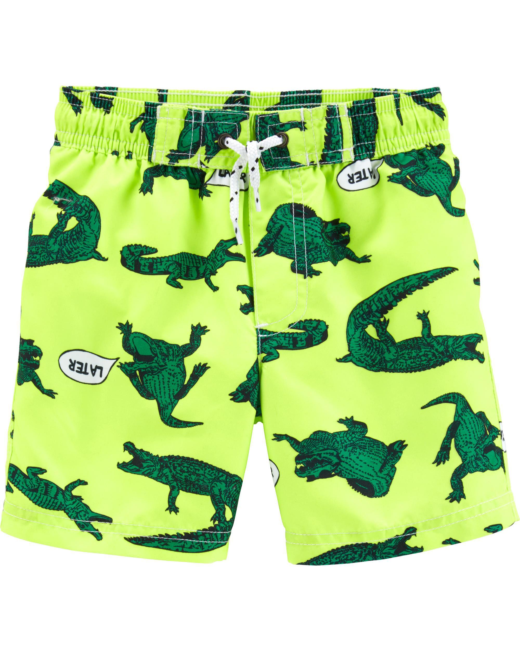 *Clearance*  Carter's Alligator Swim Trunks