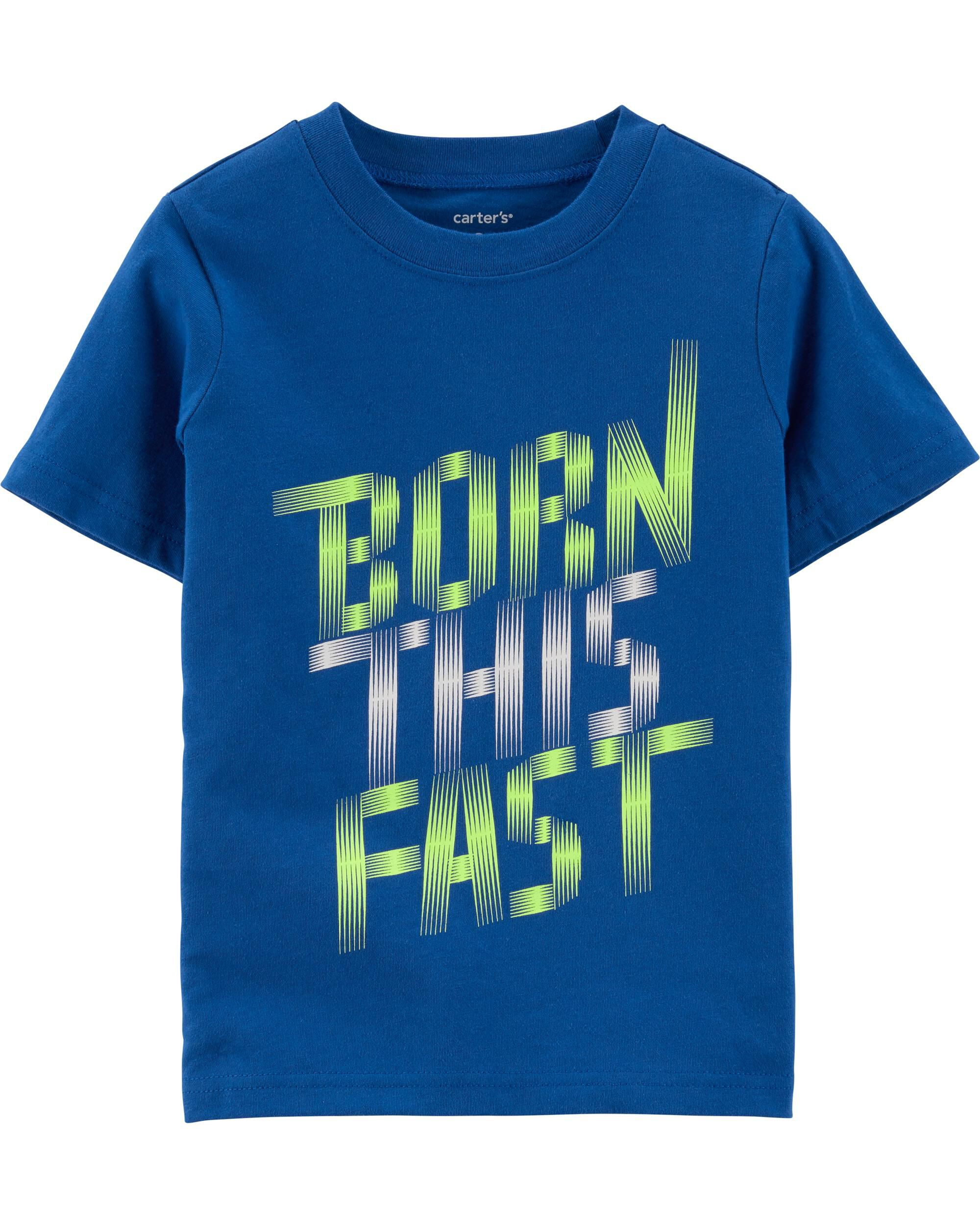 *Clearance*  Born This Fast Jersey Tee