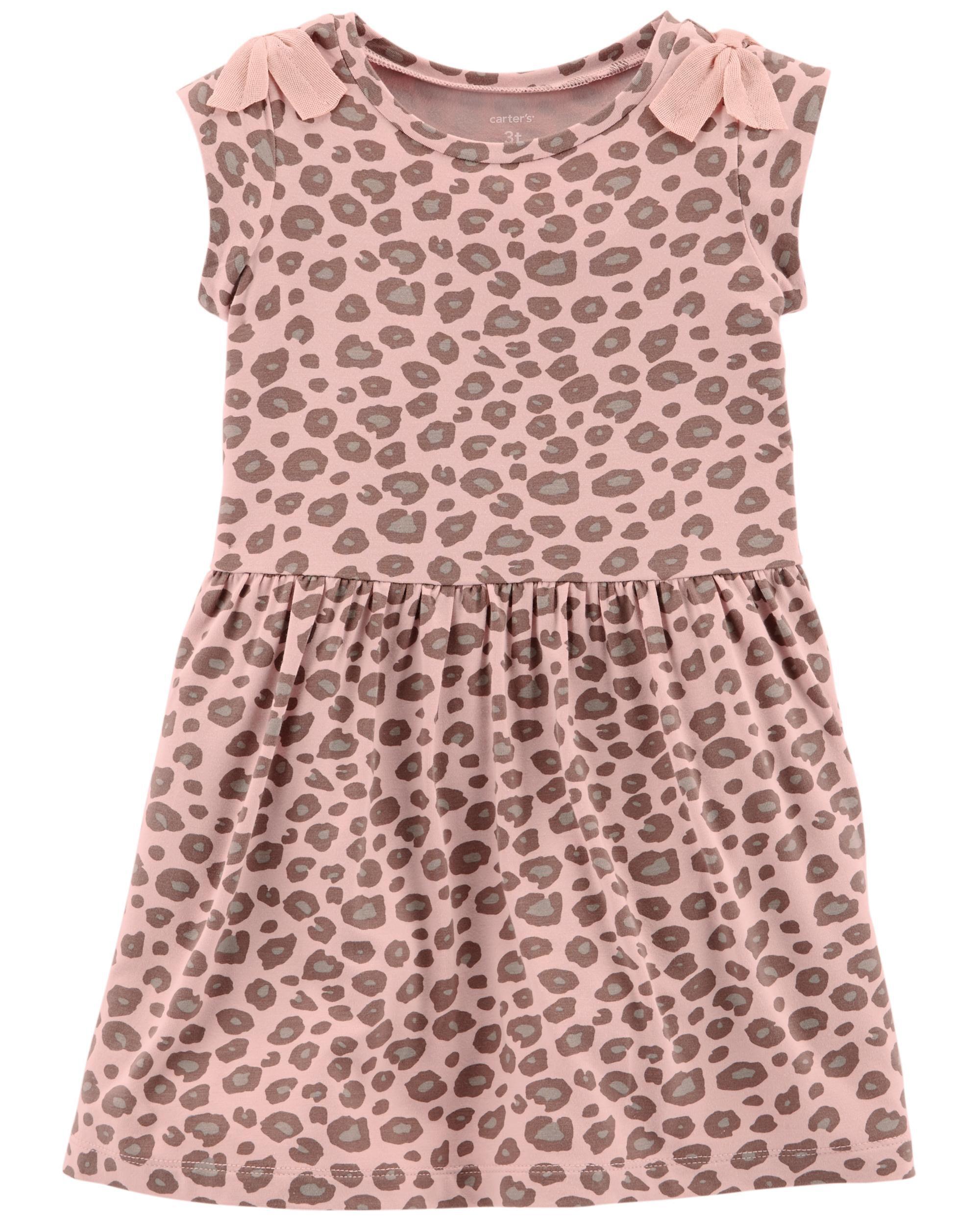*Clearance*  Leopard Jersey Dress