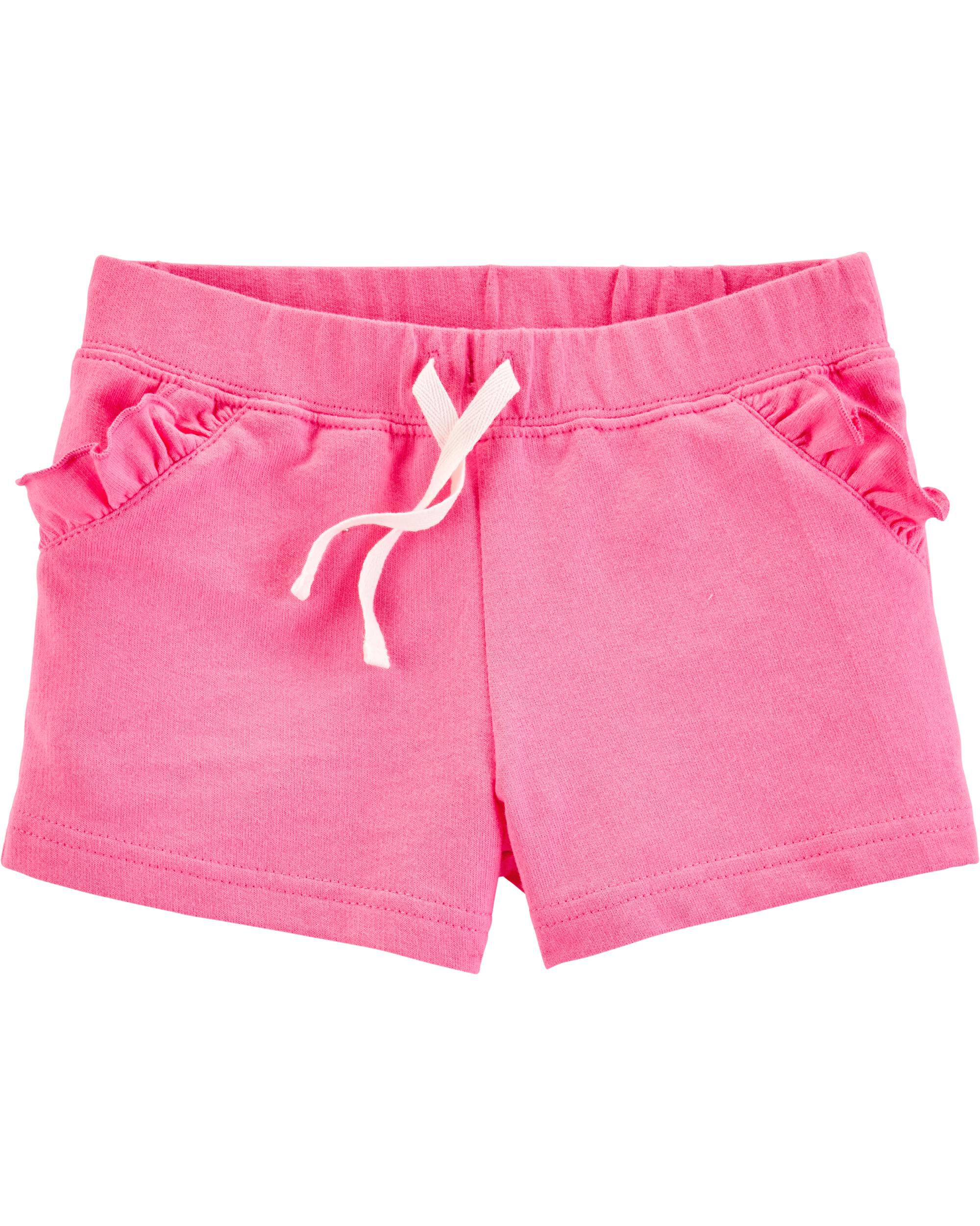 *Clearance*  Ruffle Pull-On French Terry Shorts