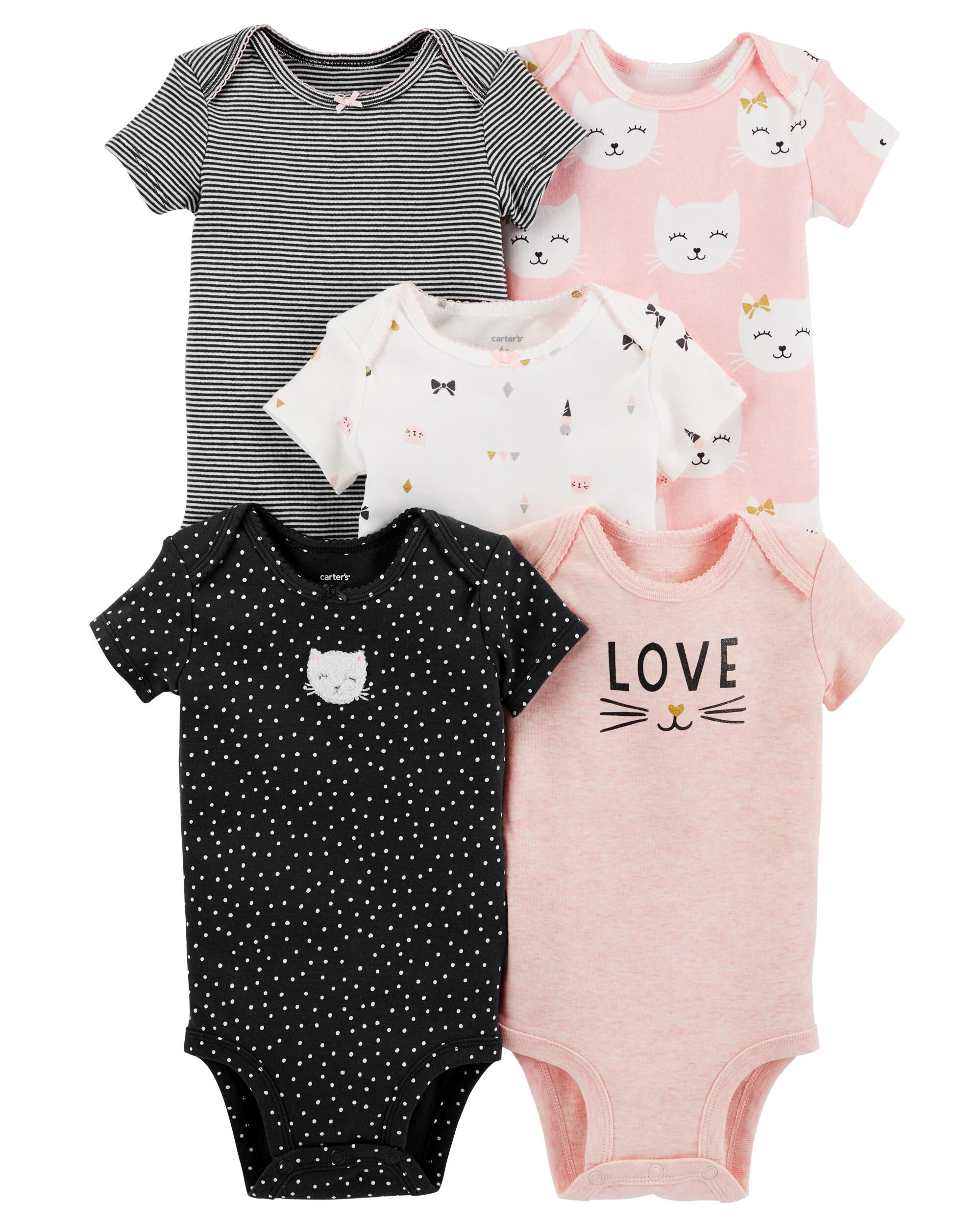 *Clearance*  5-Pack Kitty Original Bodysuits