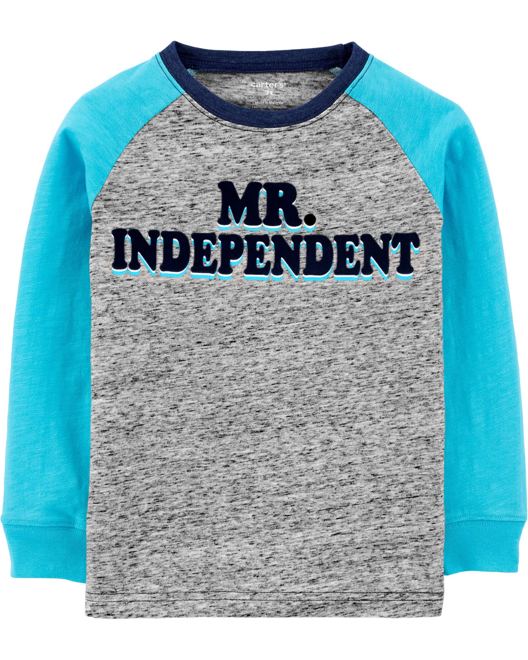 Mr. Independent Raglan Jersey Tee