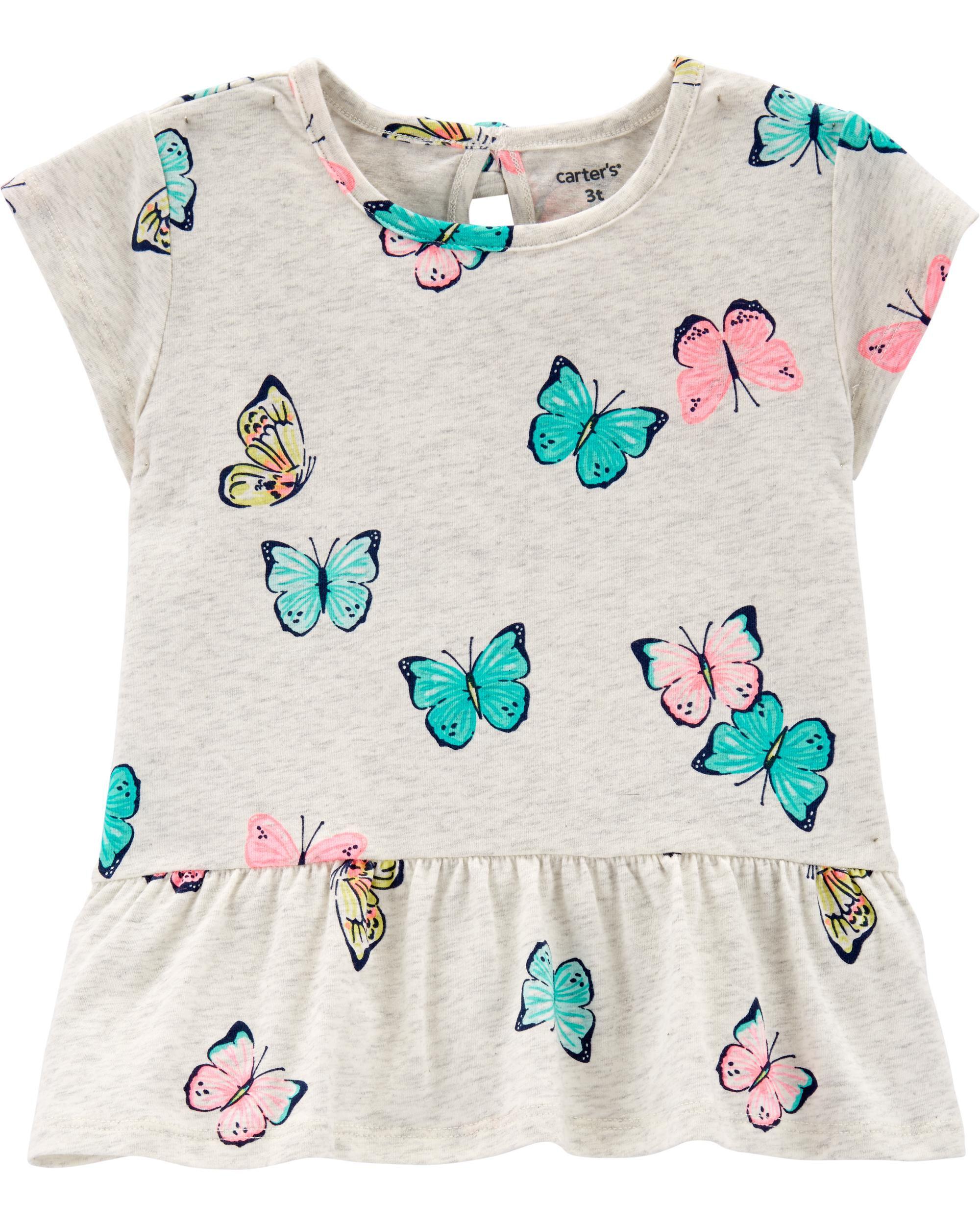 *Clearance*  Butterfly Peplum Top