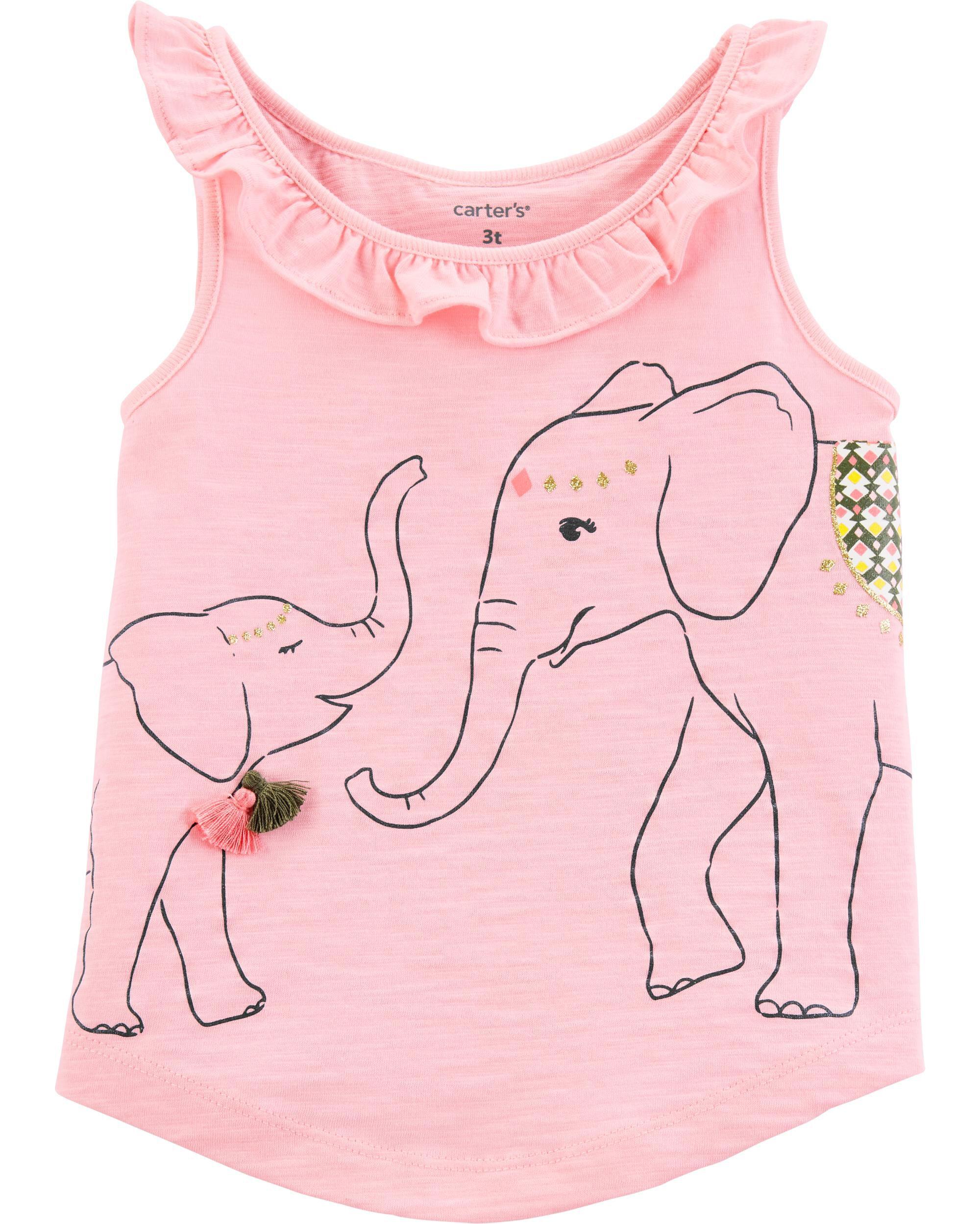 *Clearance*  Elephant Split Back Slub Tank