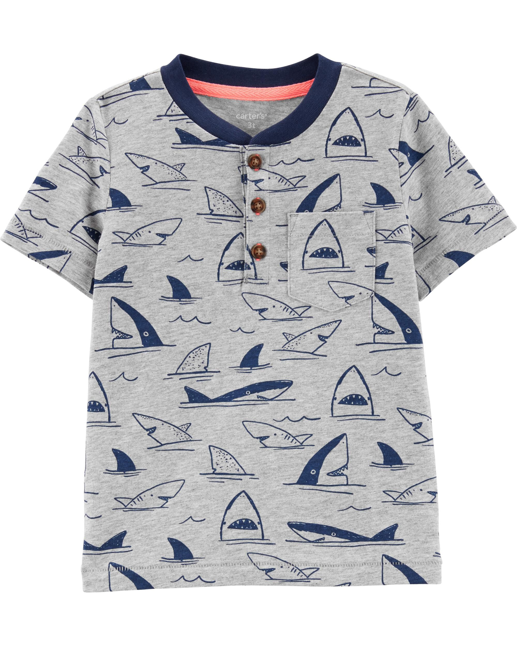 *Clearance*  Shark Jersey Henley