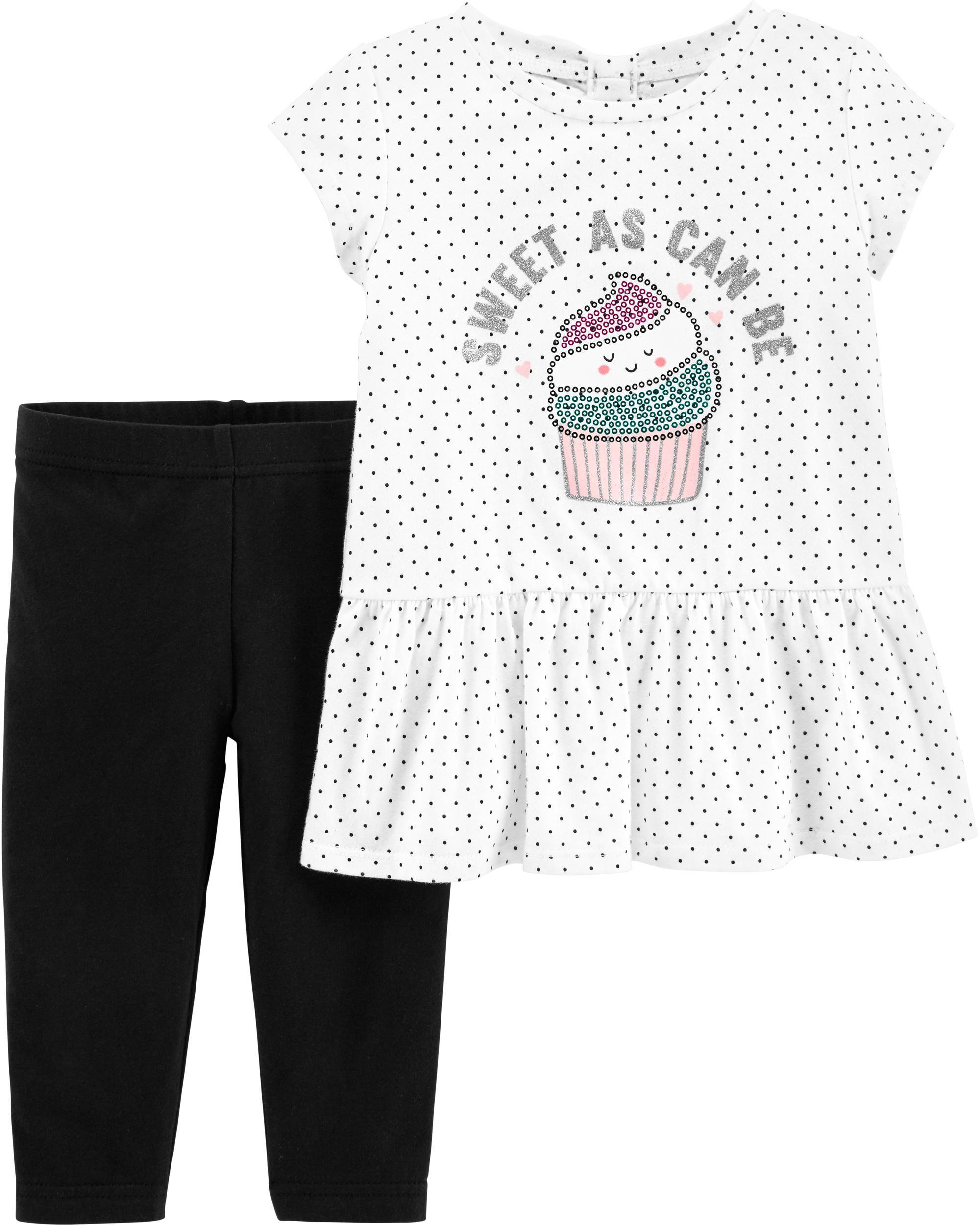 *Clearance*  2-Piece Cupcake Peplum Top & Leggin...