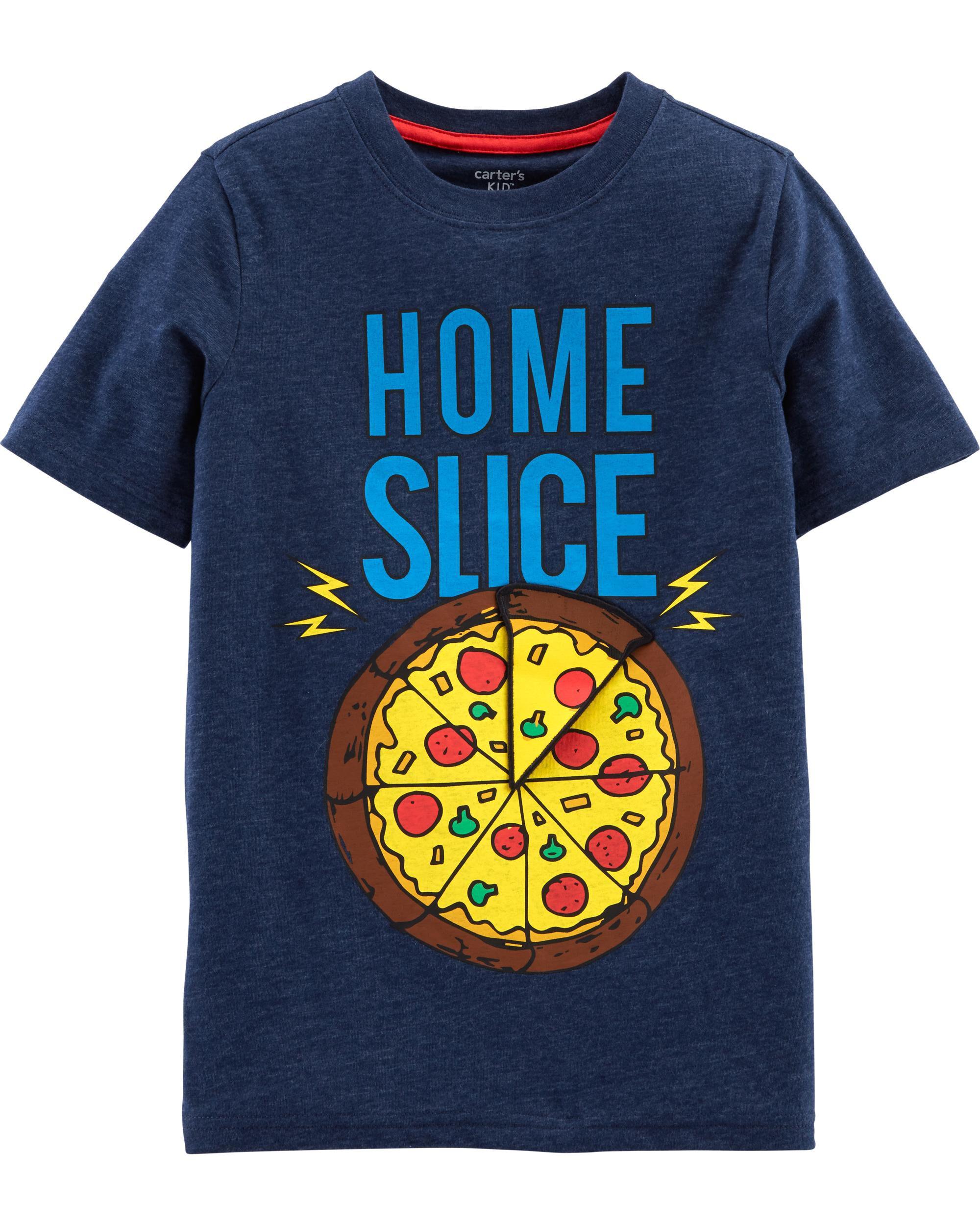*Clearance*  Interactive Pizza Snow Yarn Tee