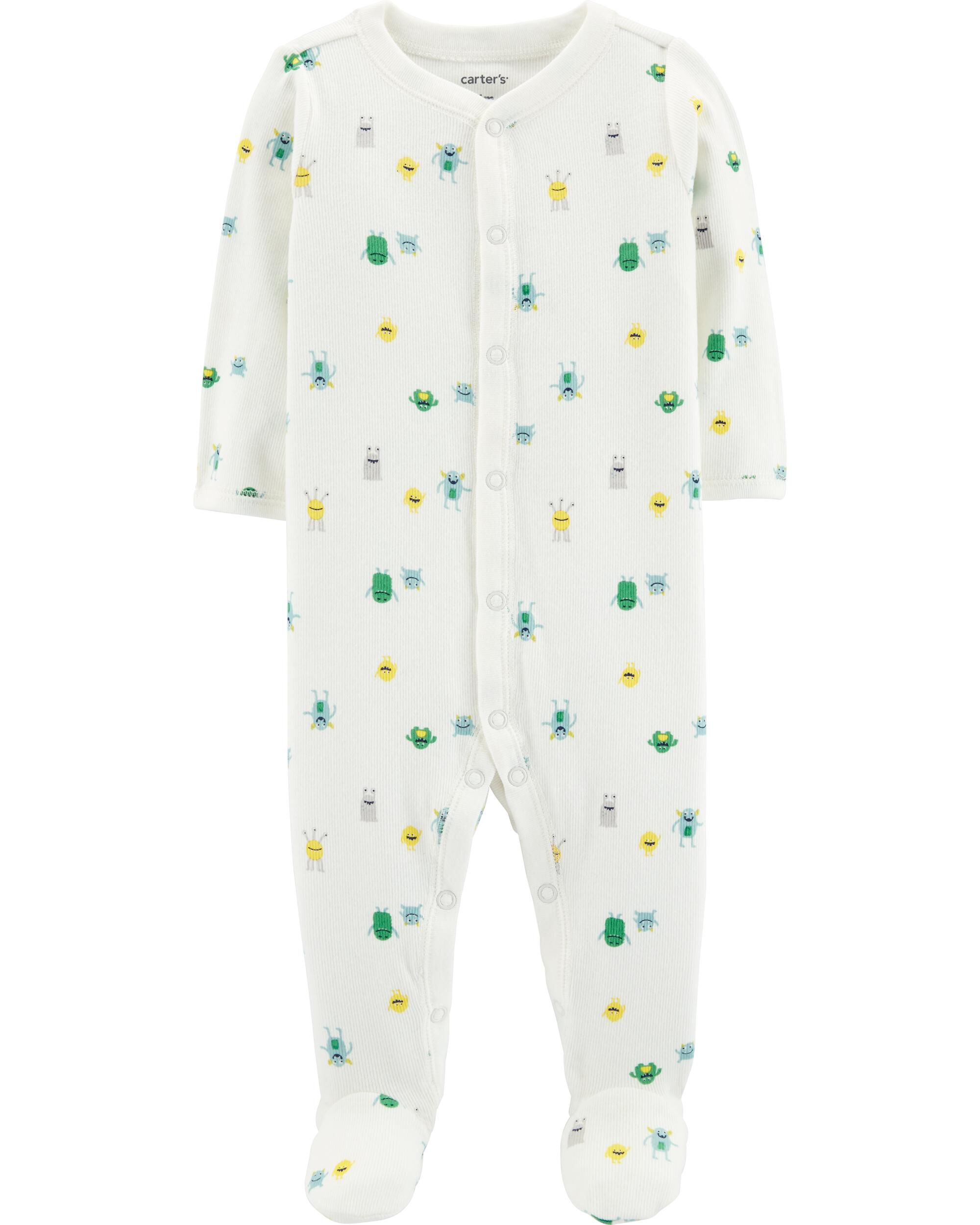 *Clearance*  Monster Snap-Up Cotton Sleep & Play