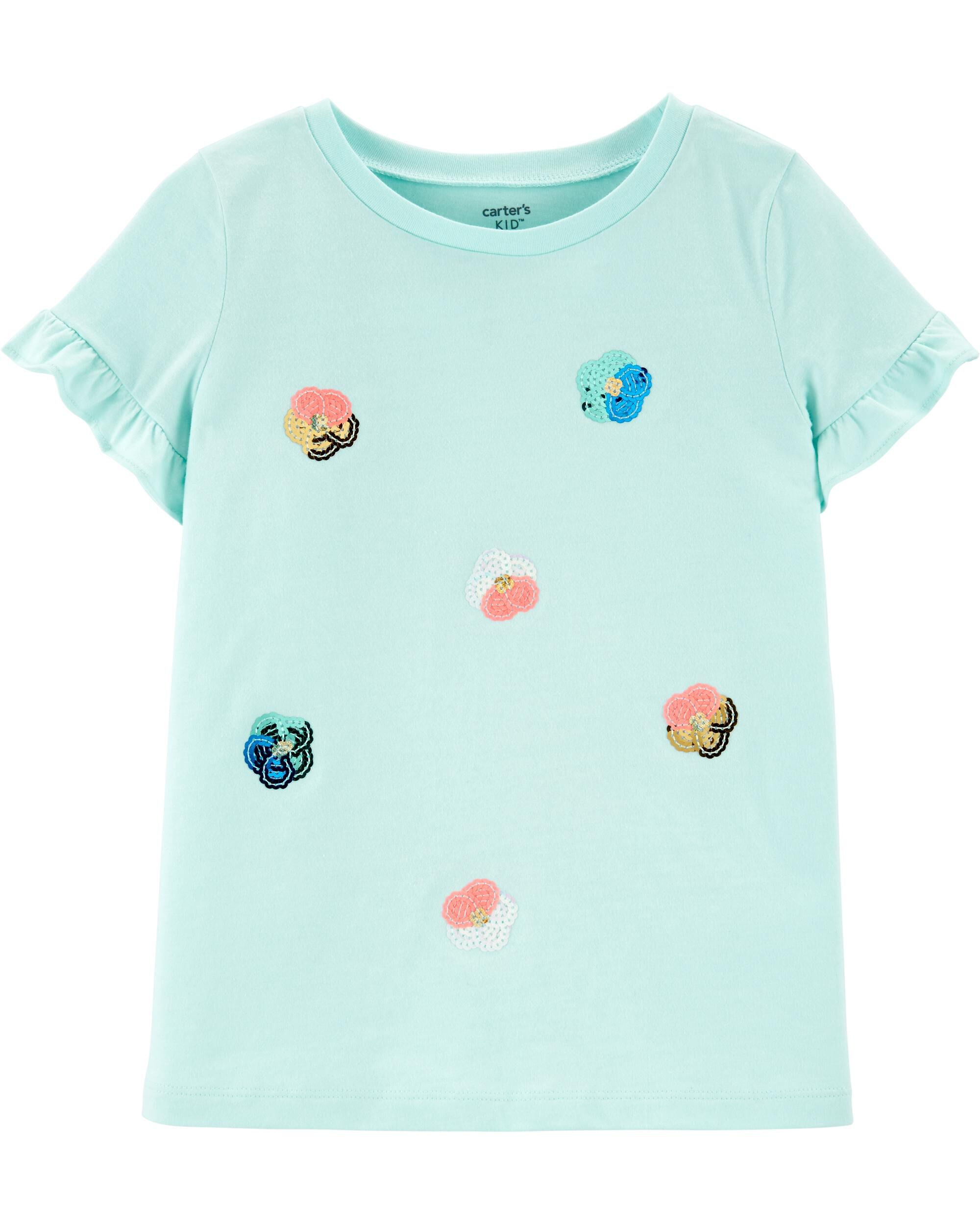 *Clearance*  Sequin Floral Jersey Tee
