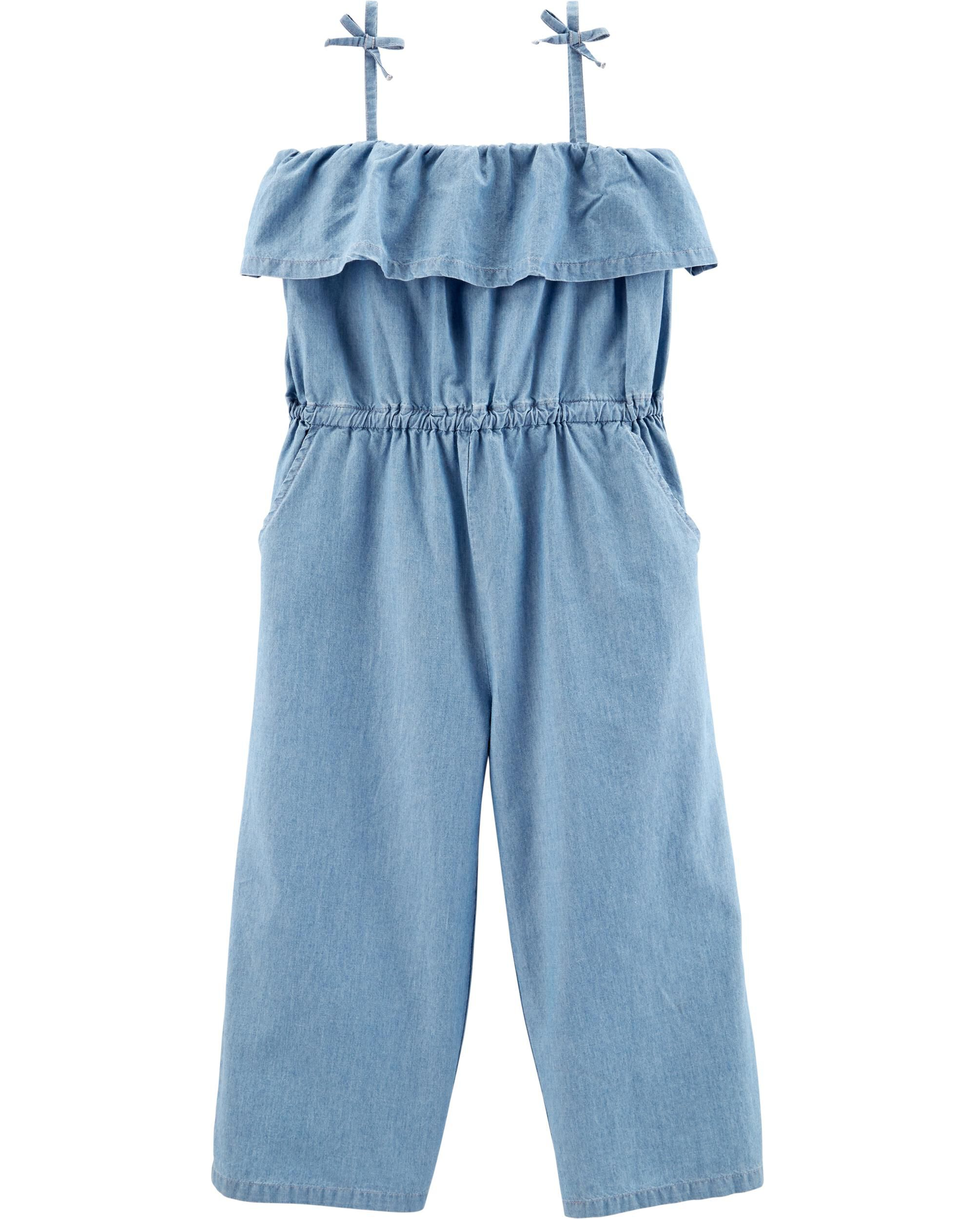 *Clearance*  Chambray Tank Jumpsuit
