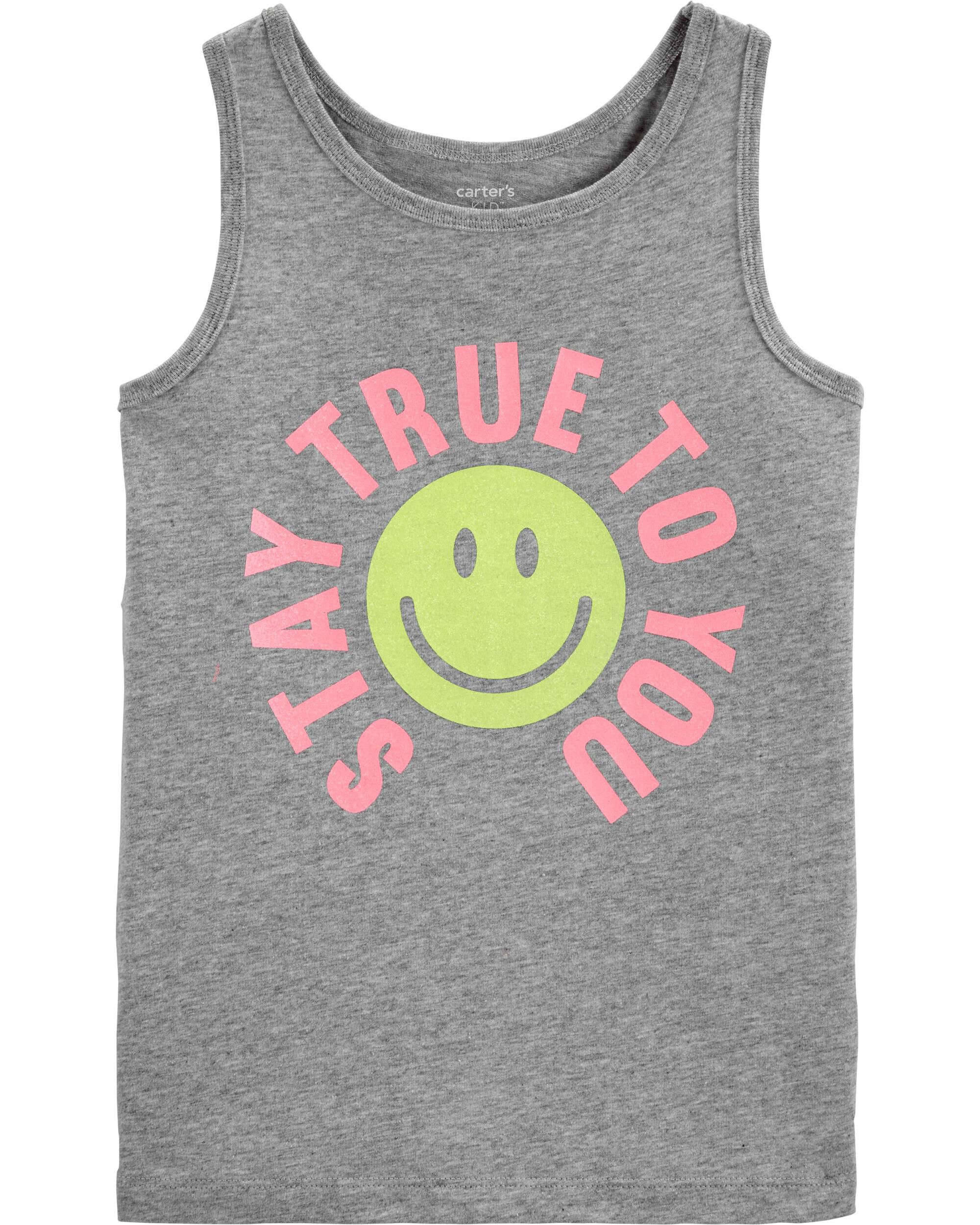*Clearance*  Stay True To You Smiley Face Tank