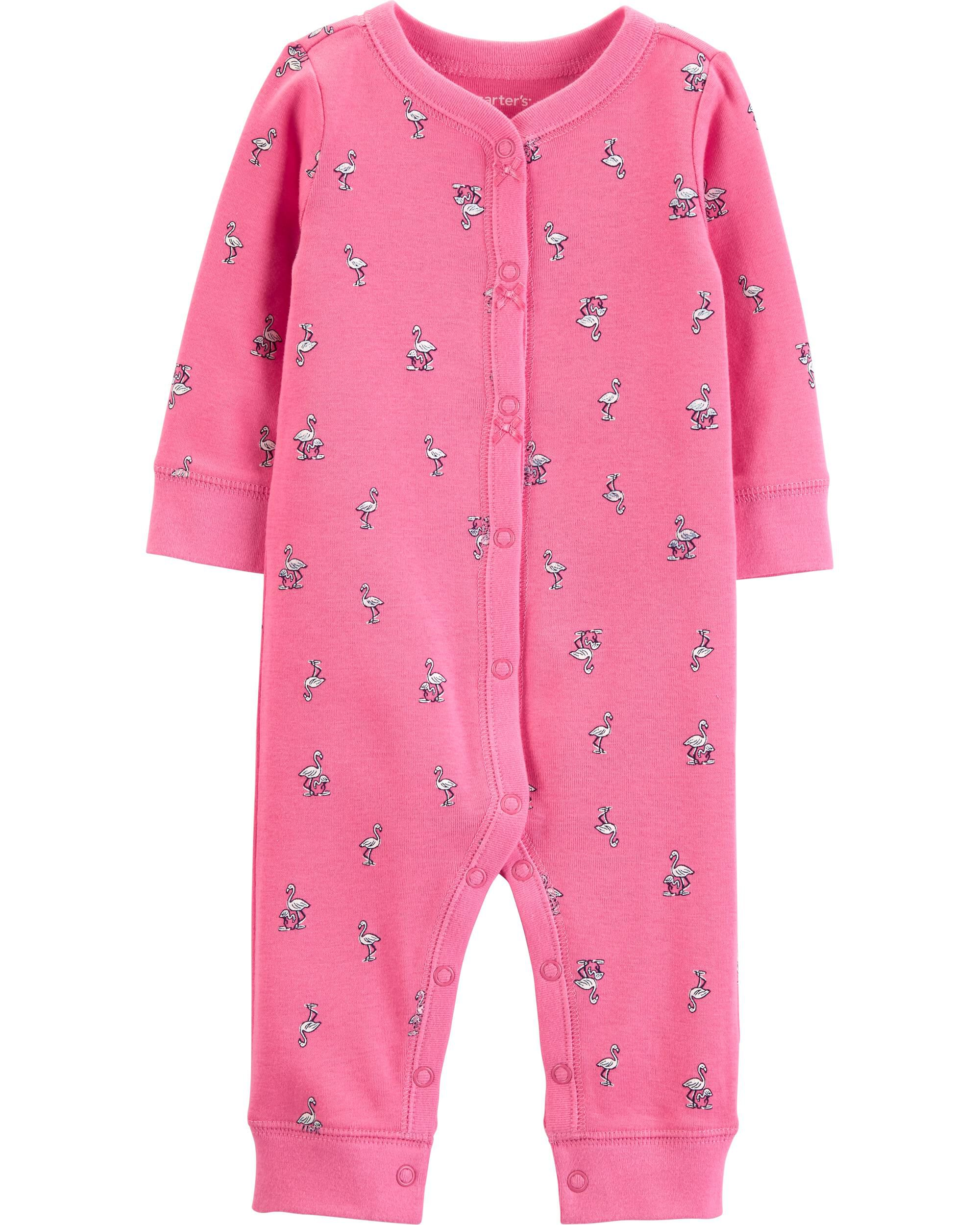 *Clearance*  Flamingo Snap-Up Cotton Footless Sl...