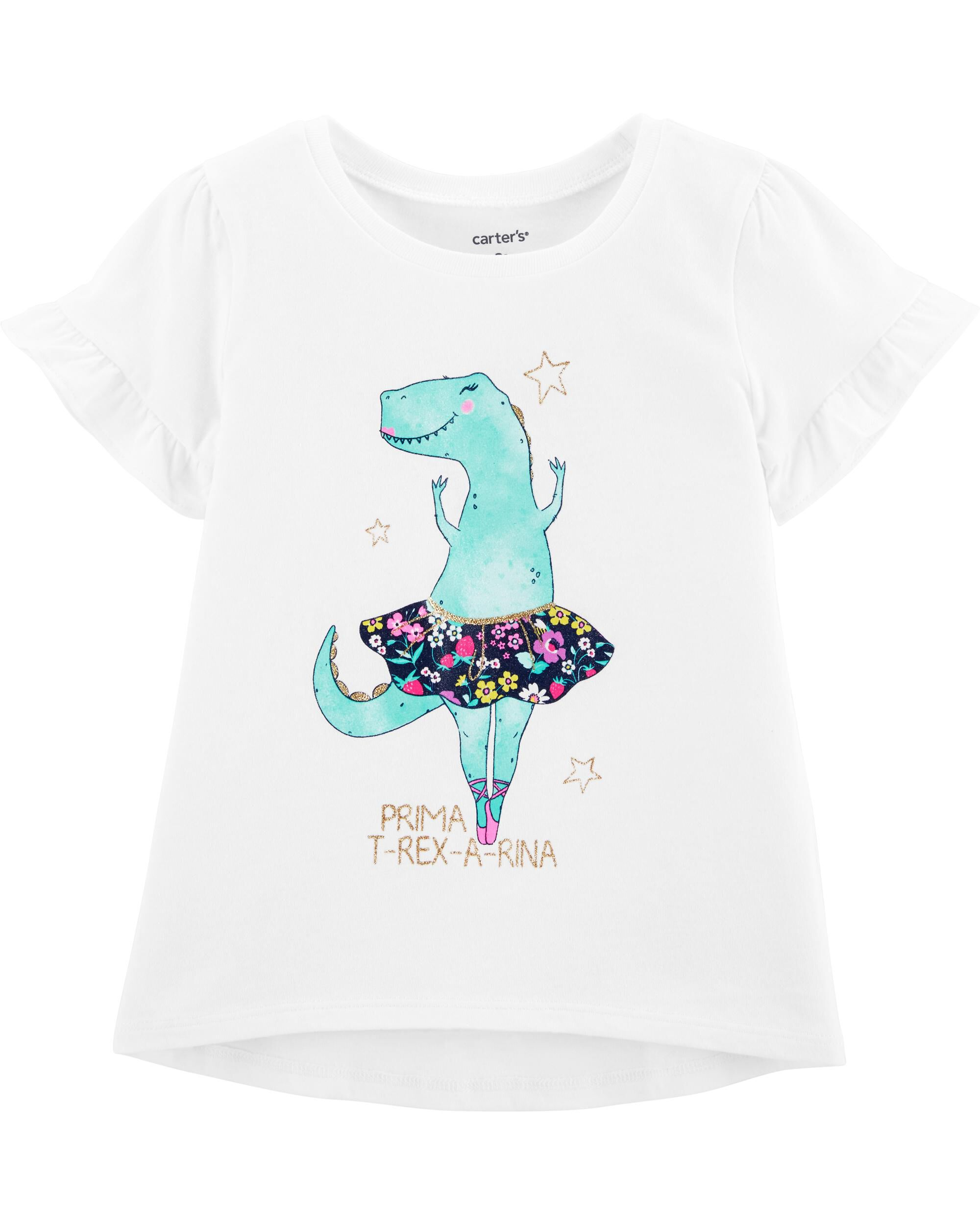 *Clearance*  Glitter Dinosaur Ballerina Hi-Lo Te...