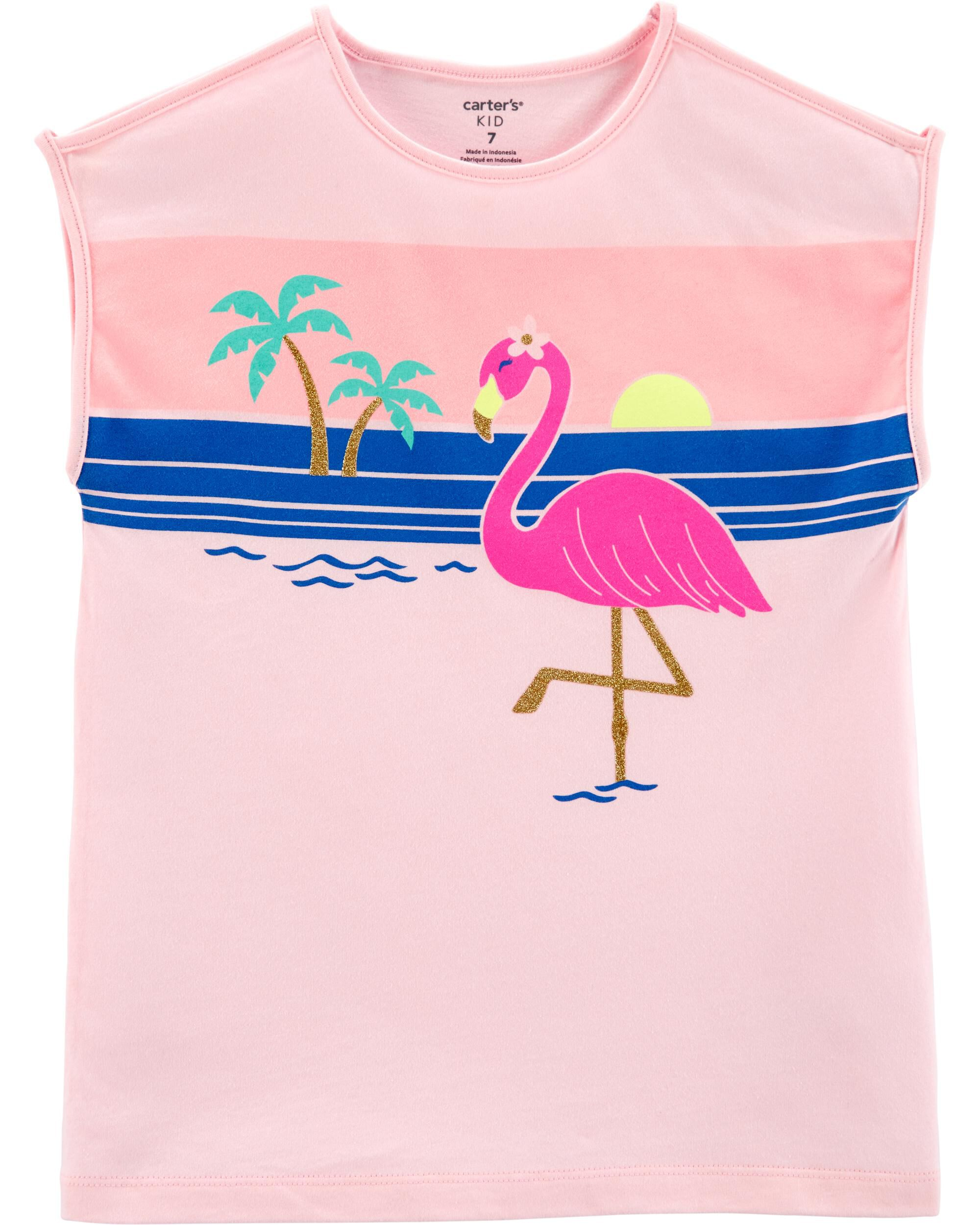 *Clearance*  Beach Flamingo Jersey Tee