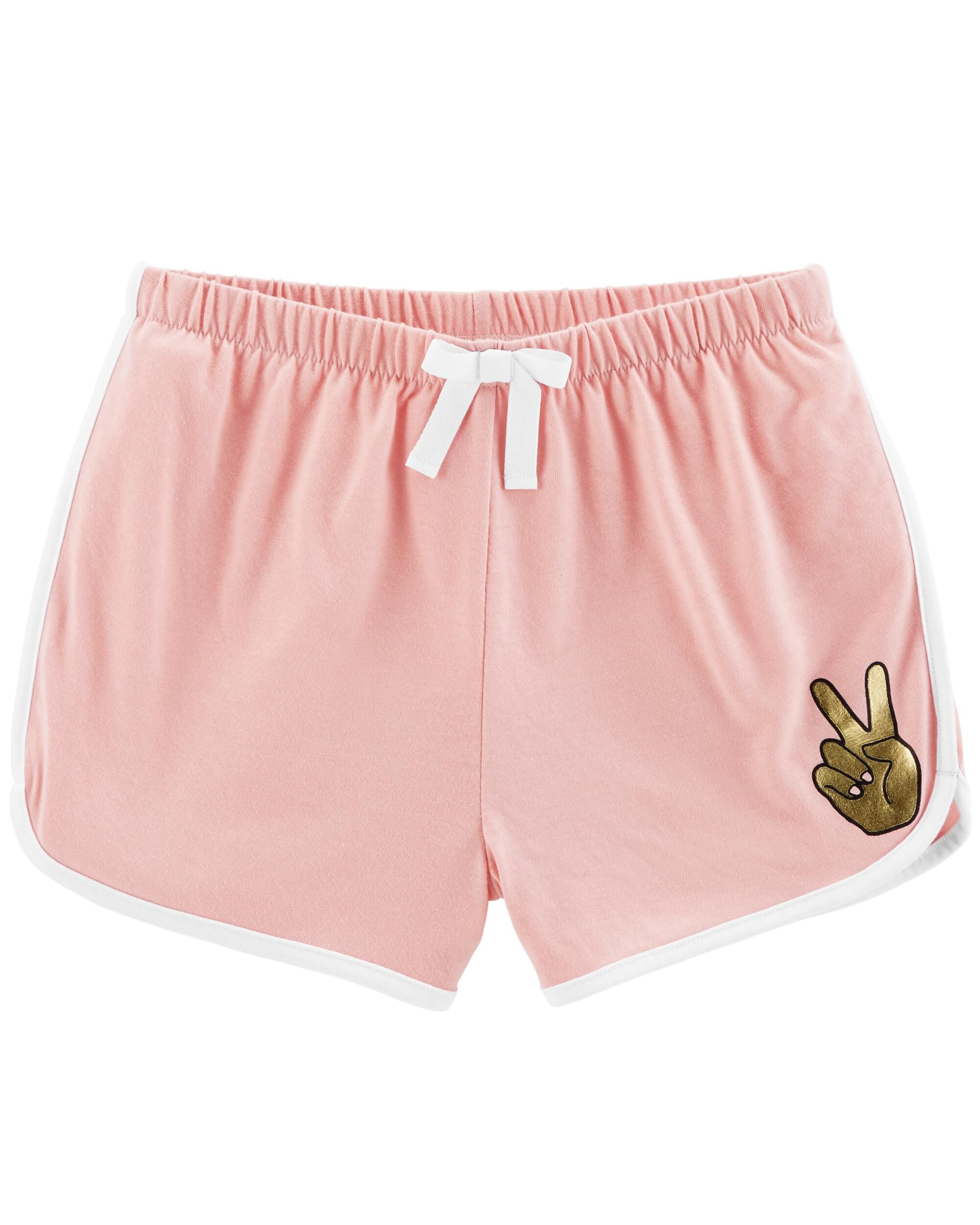 *Clearance*  Peace Sign French Terry Sleep Short...
