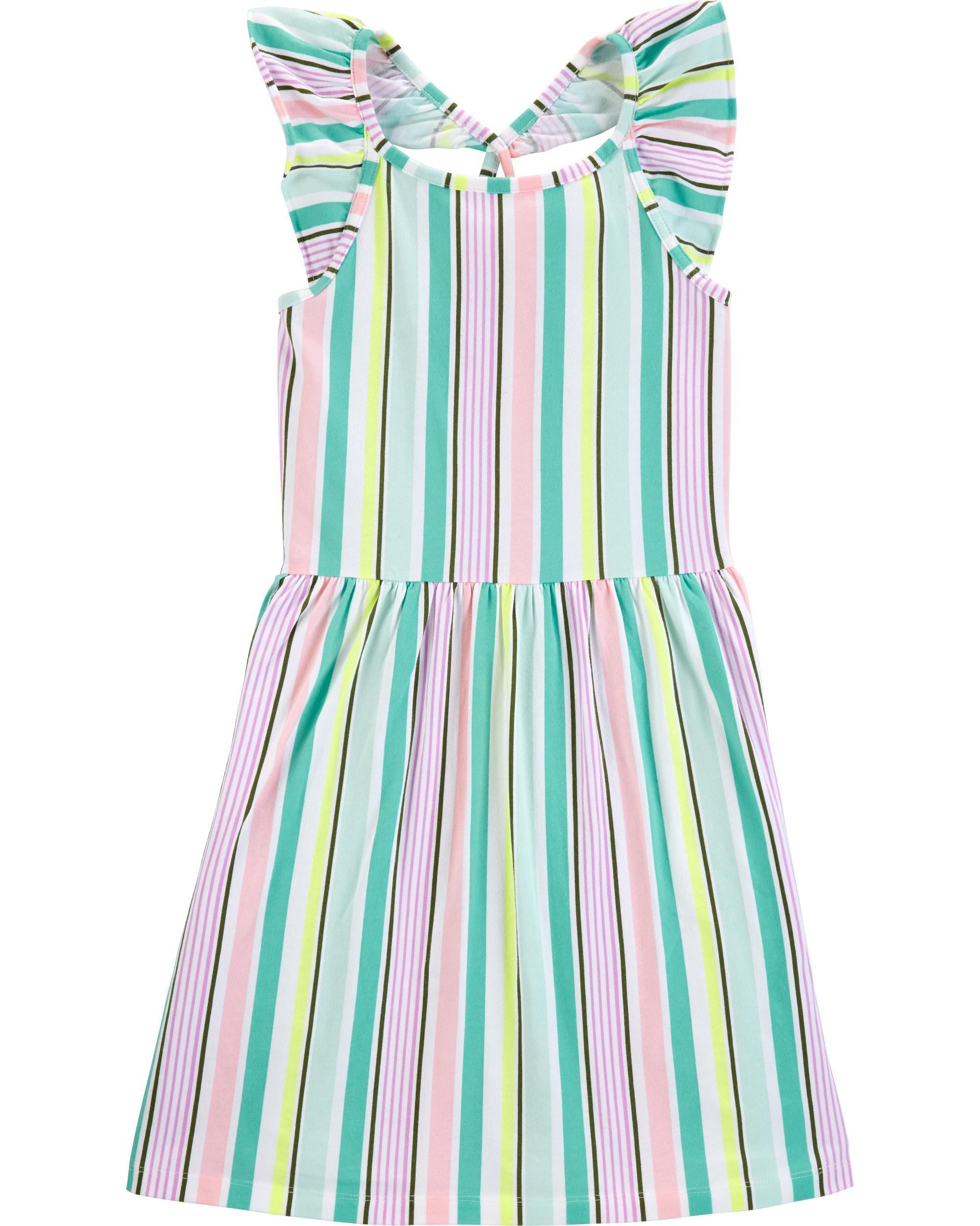 *Clearance*  Striped Flutter Dress