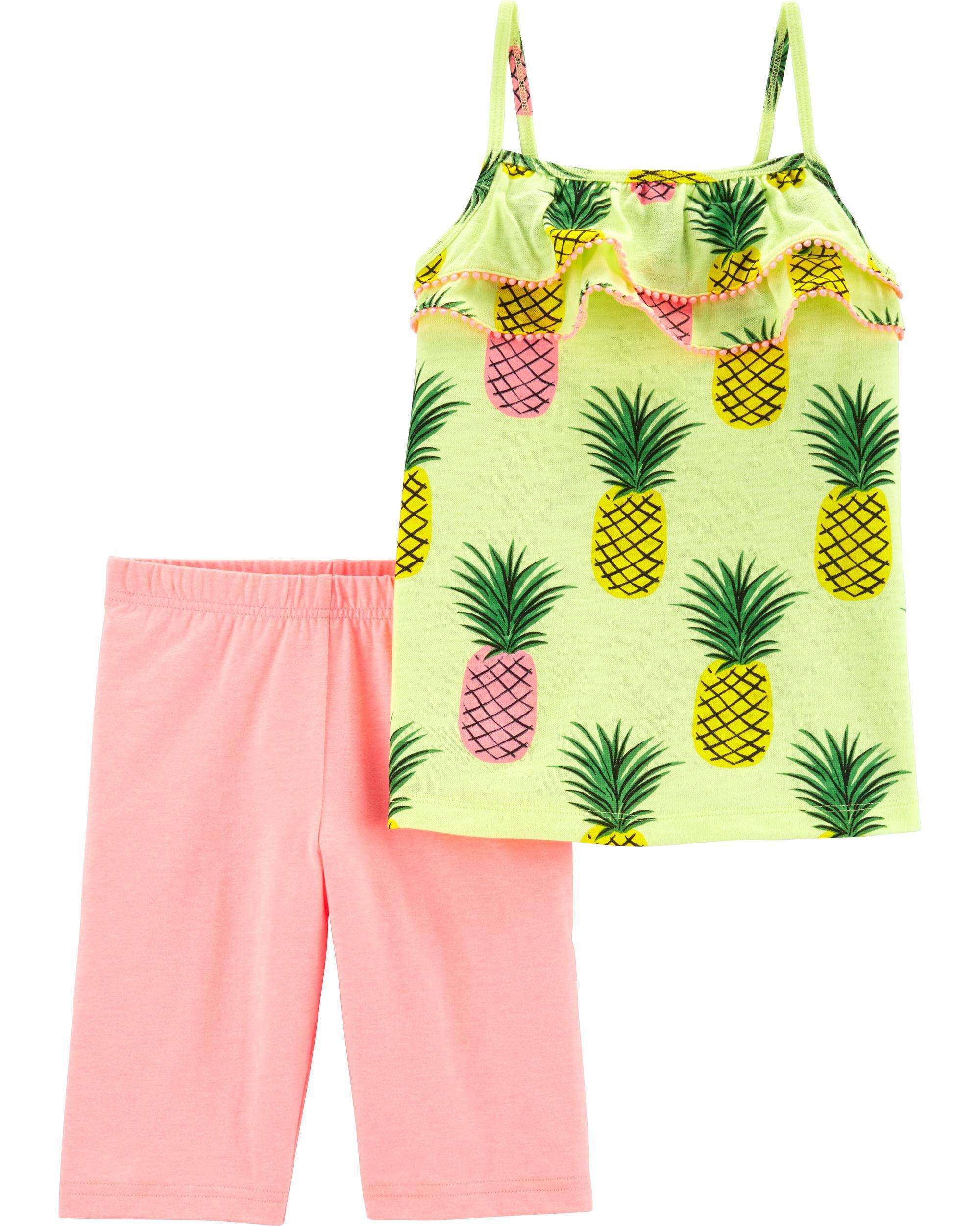 *Clearance*  2-Piece Neon Pineapple Tank & Tumbl...