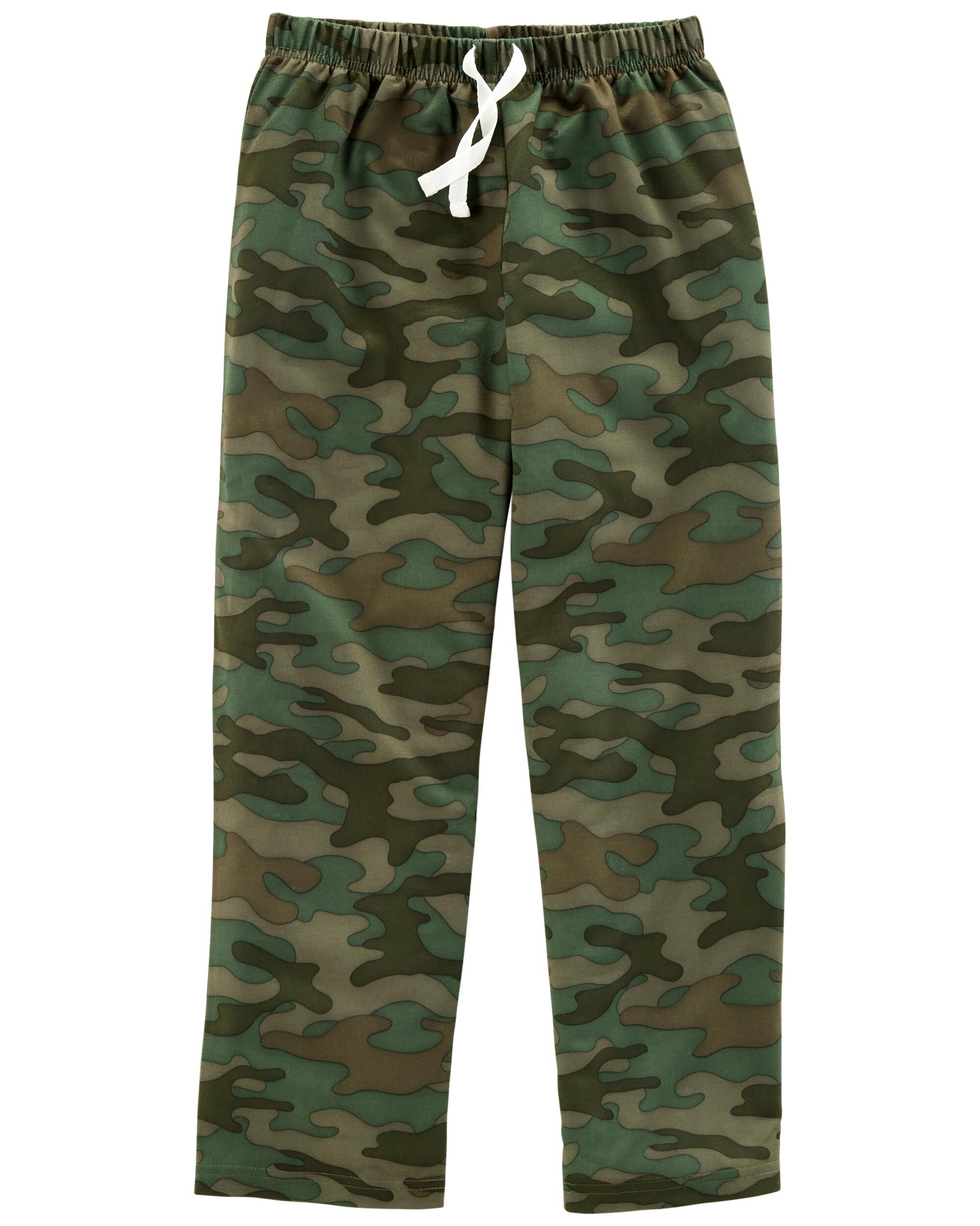 *Clearance*  Camo French Terry Poly Sleep Pants