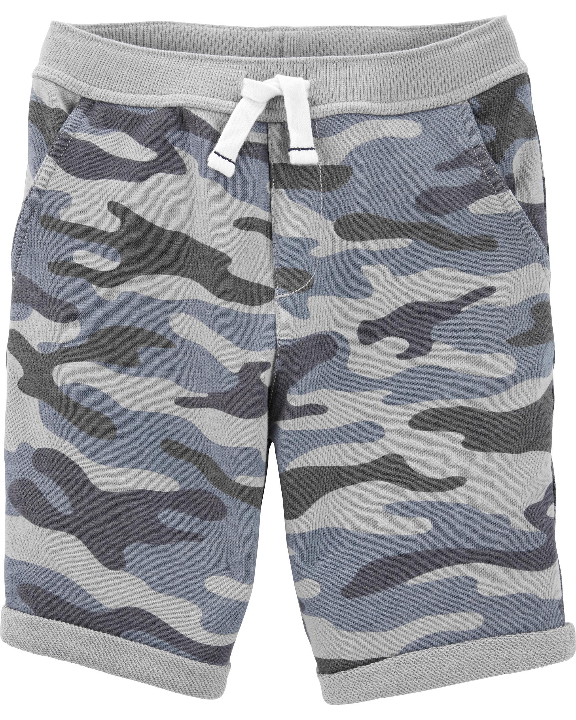*Clearance*  Camo Pull-On French Terry Shorts