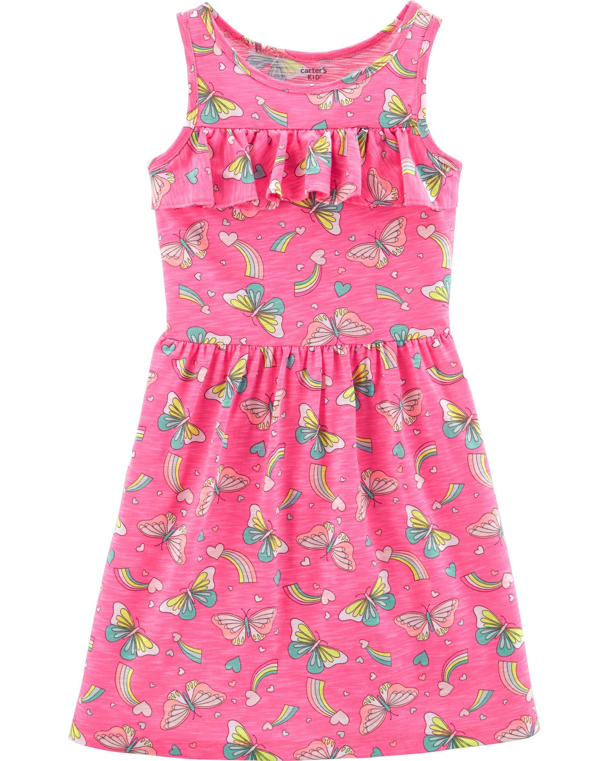 *Clearance*  Neon Ruffle Butterfly Dress