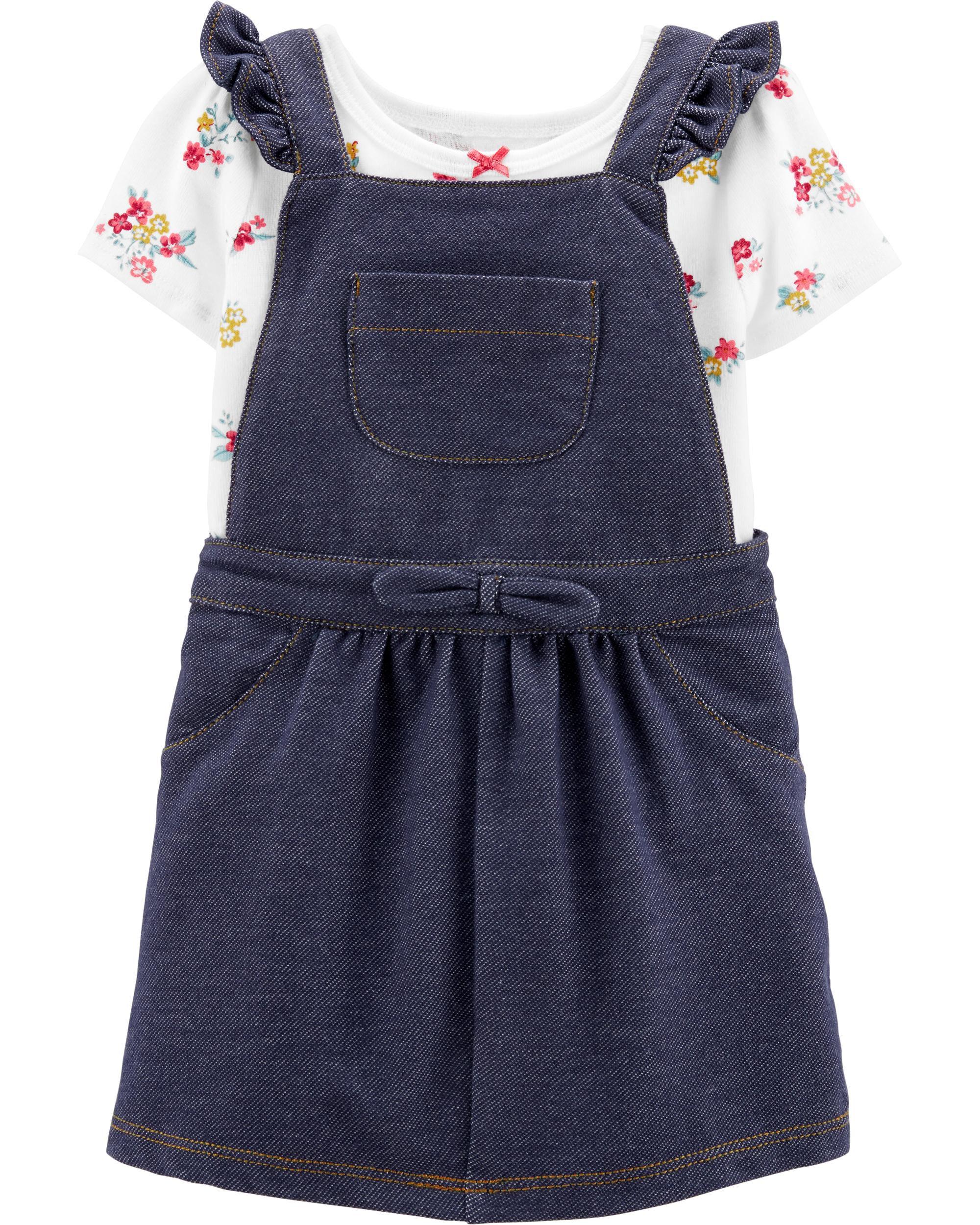 *Clearance*  2-Piece Floral Bodysuit & Denim Sho...