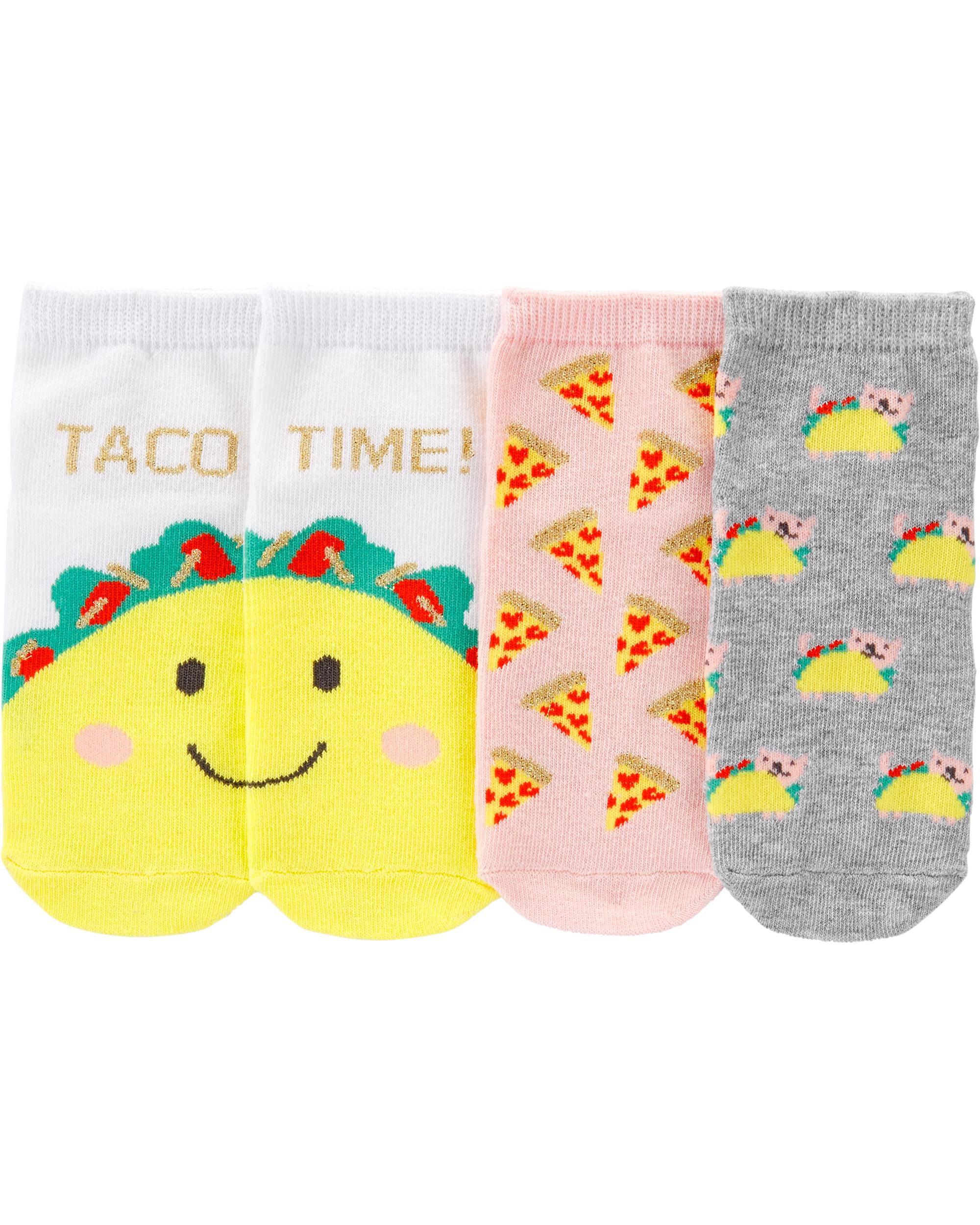 *Clearance*  3-Pack Taco Ankle Socks