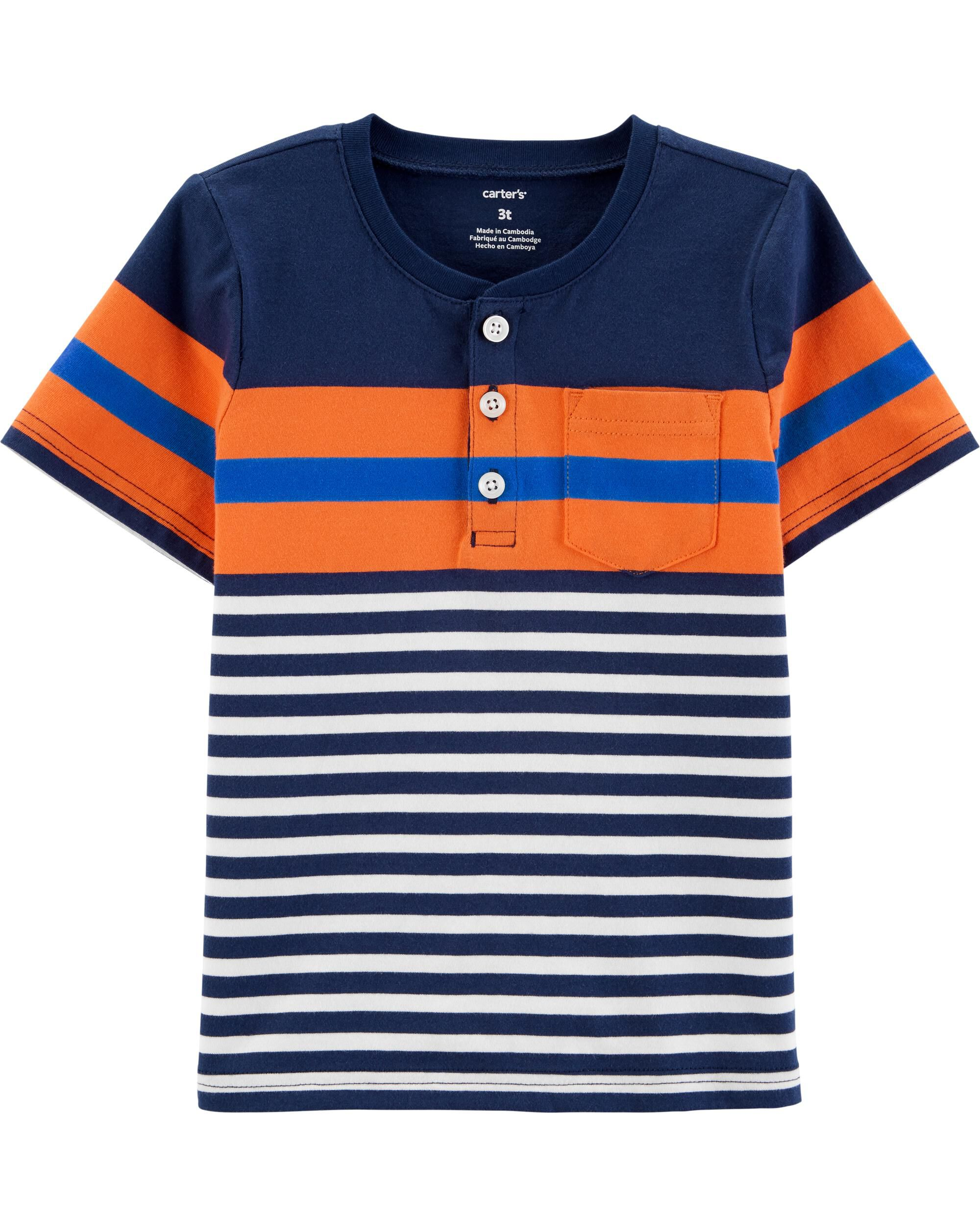 *Clearance*  Striped Jersey Henley
