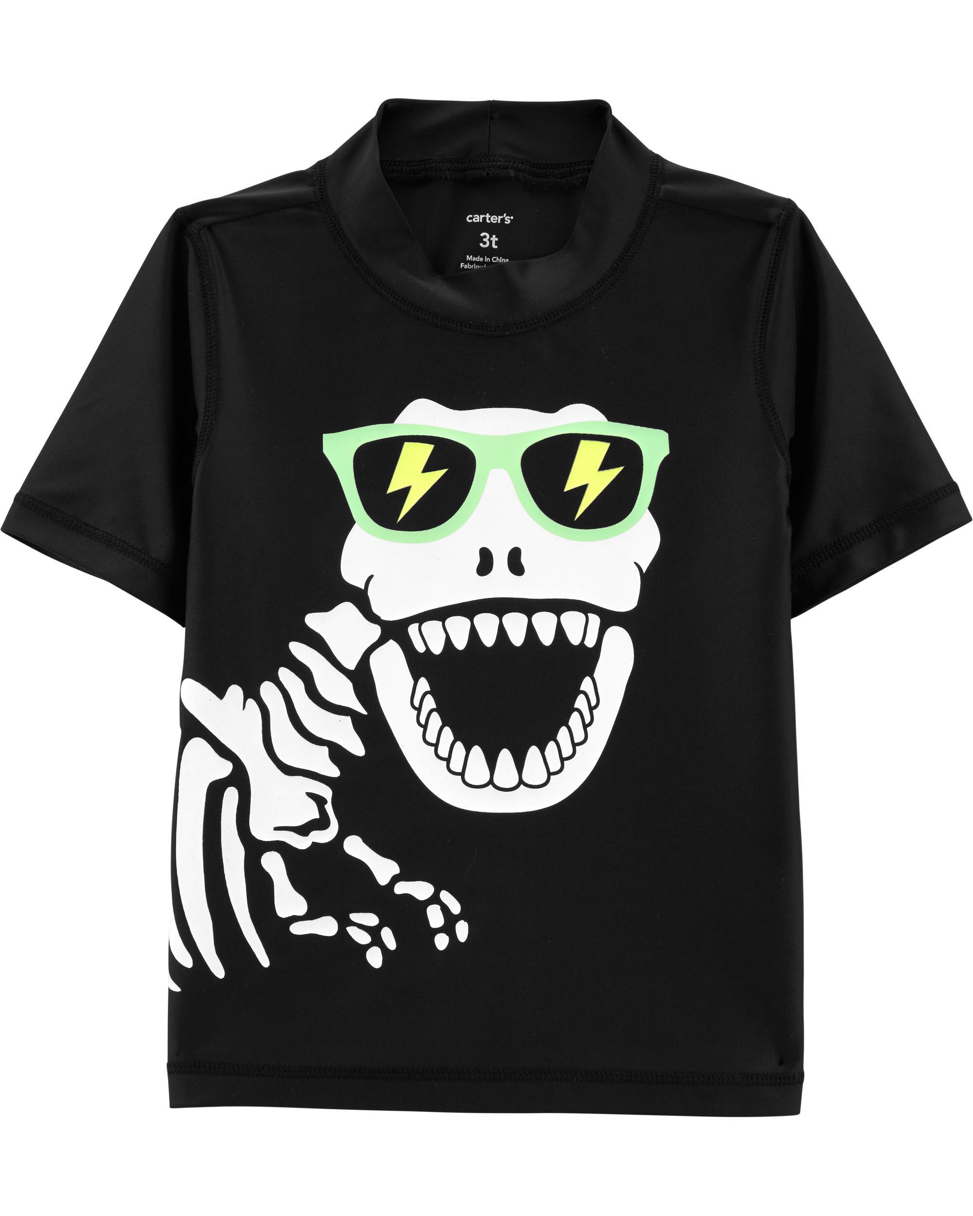*Clearance*  Carter's Dinosaur Skeleton Rashguar...