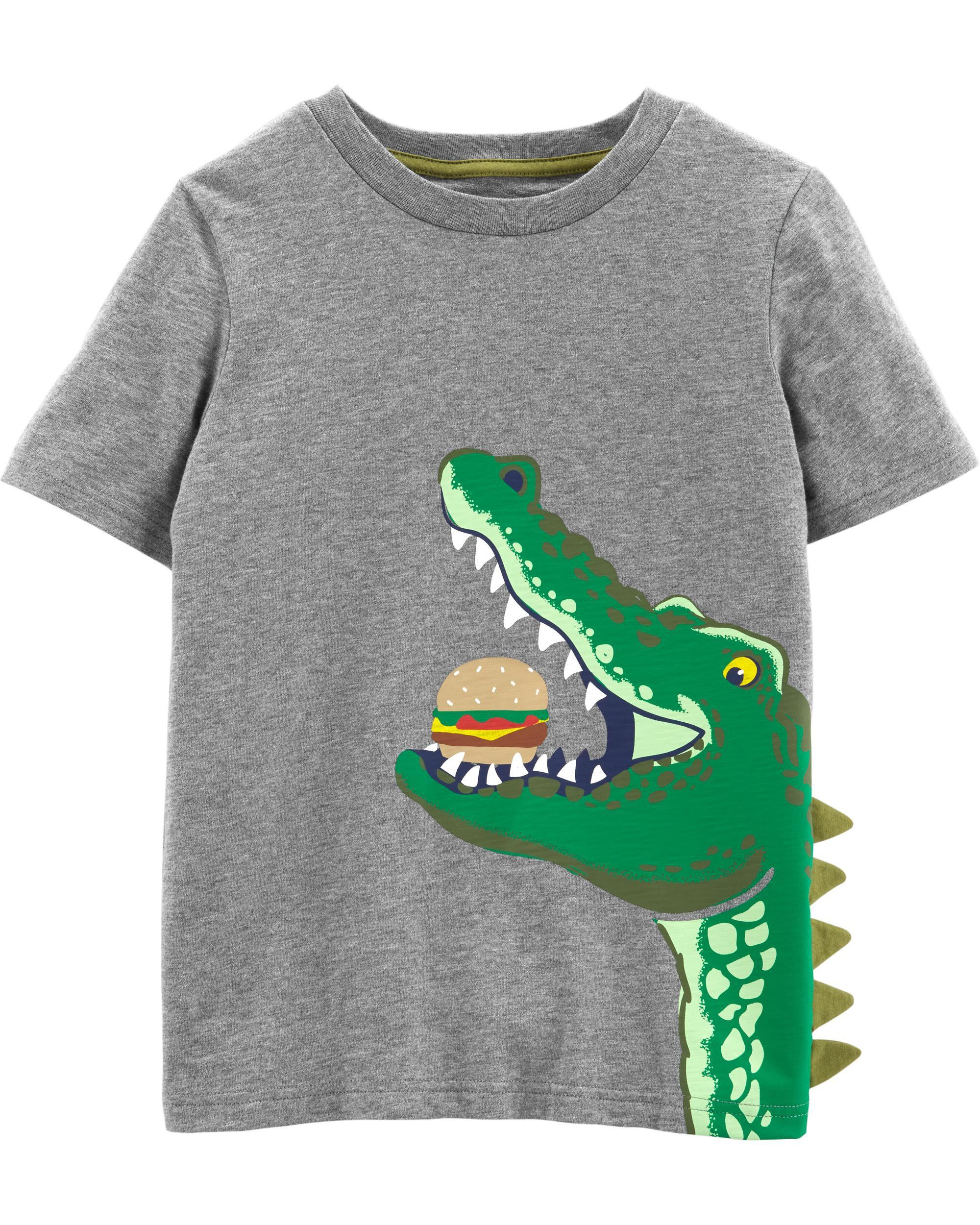 *Clearance*  Alligator Hamburger Slub Jersey Tee