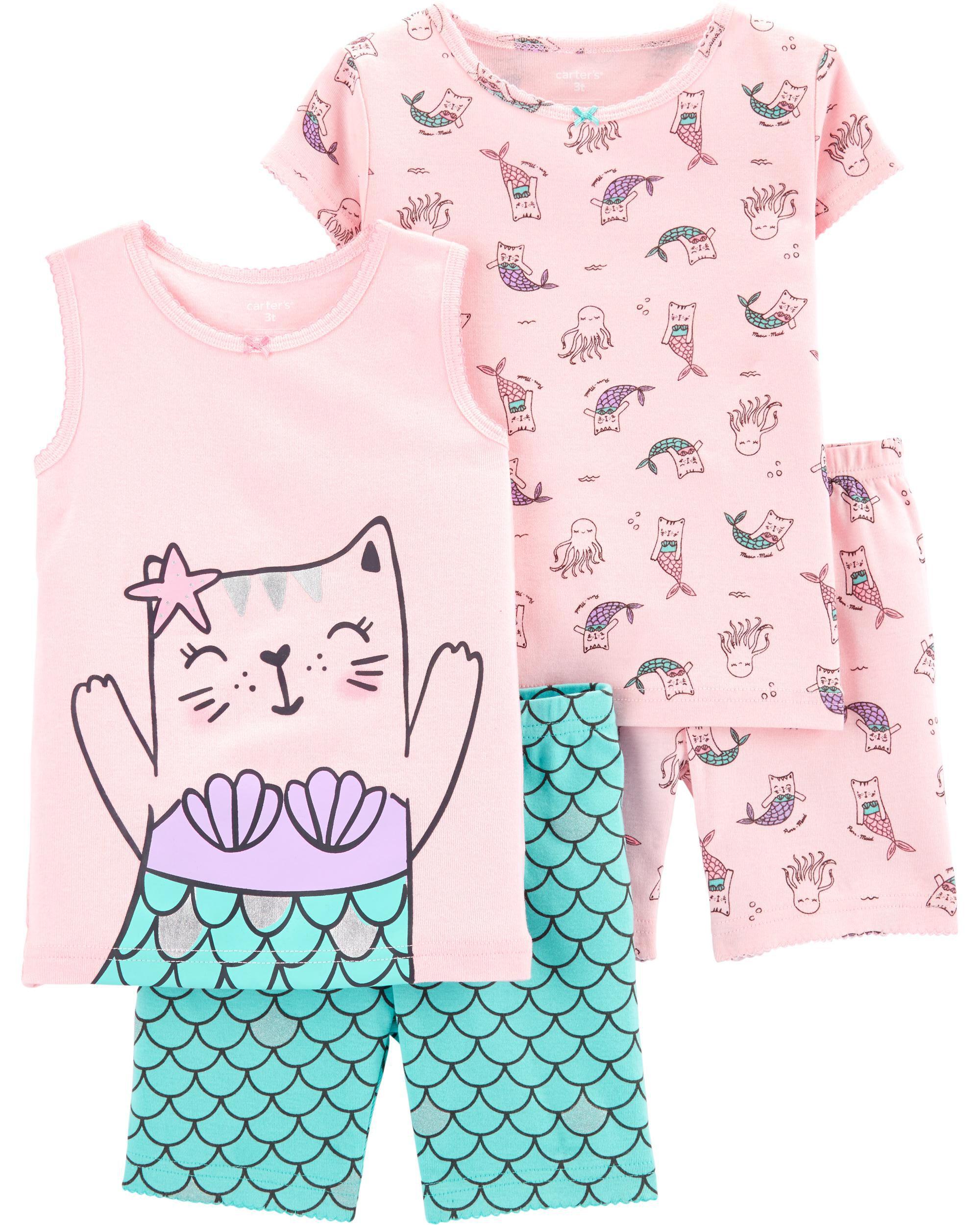 *Clearance*  4-Piece Cat Mermaid Snug Fit Cotton...