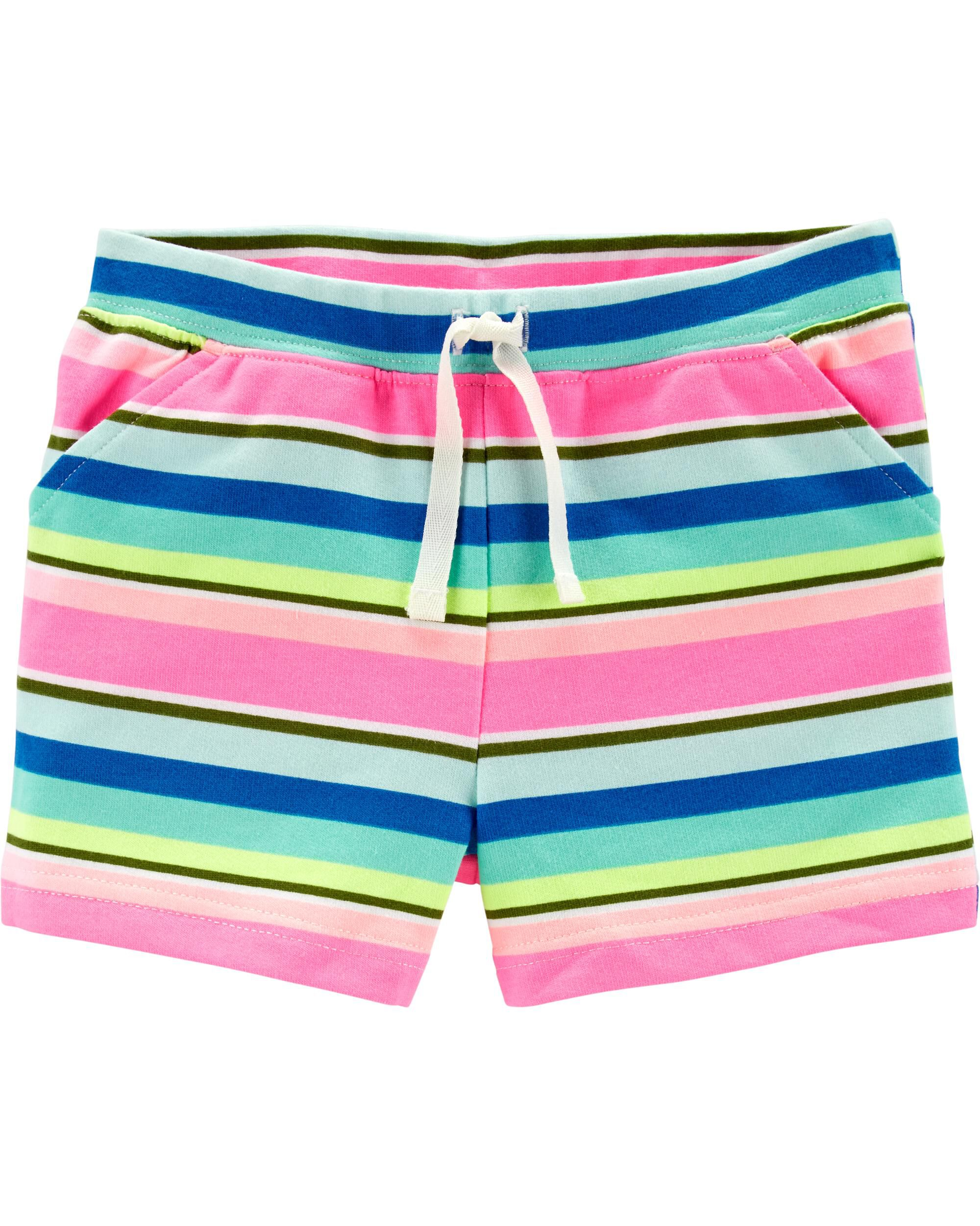 *Clearance*  Striped Pull-On French Terry Shorts