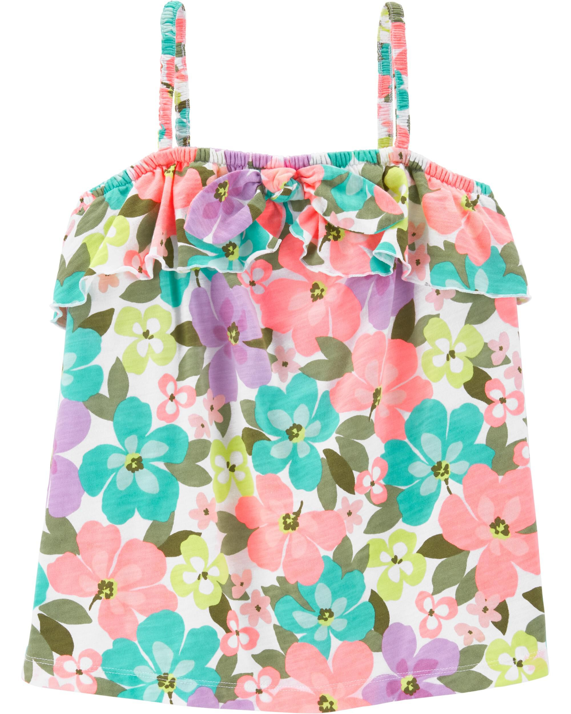*Clearance*  Floral Tie Tank