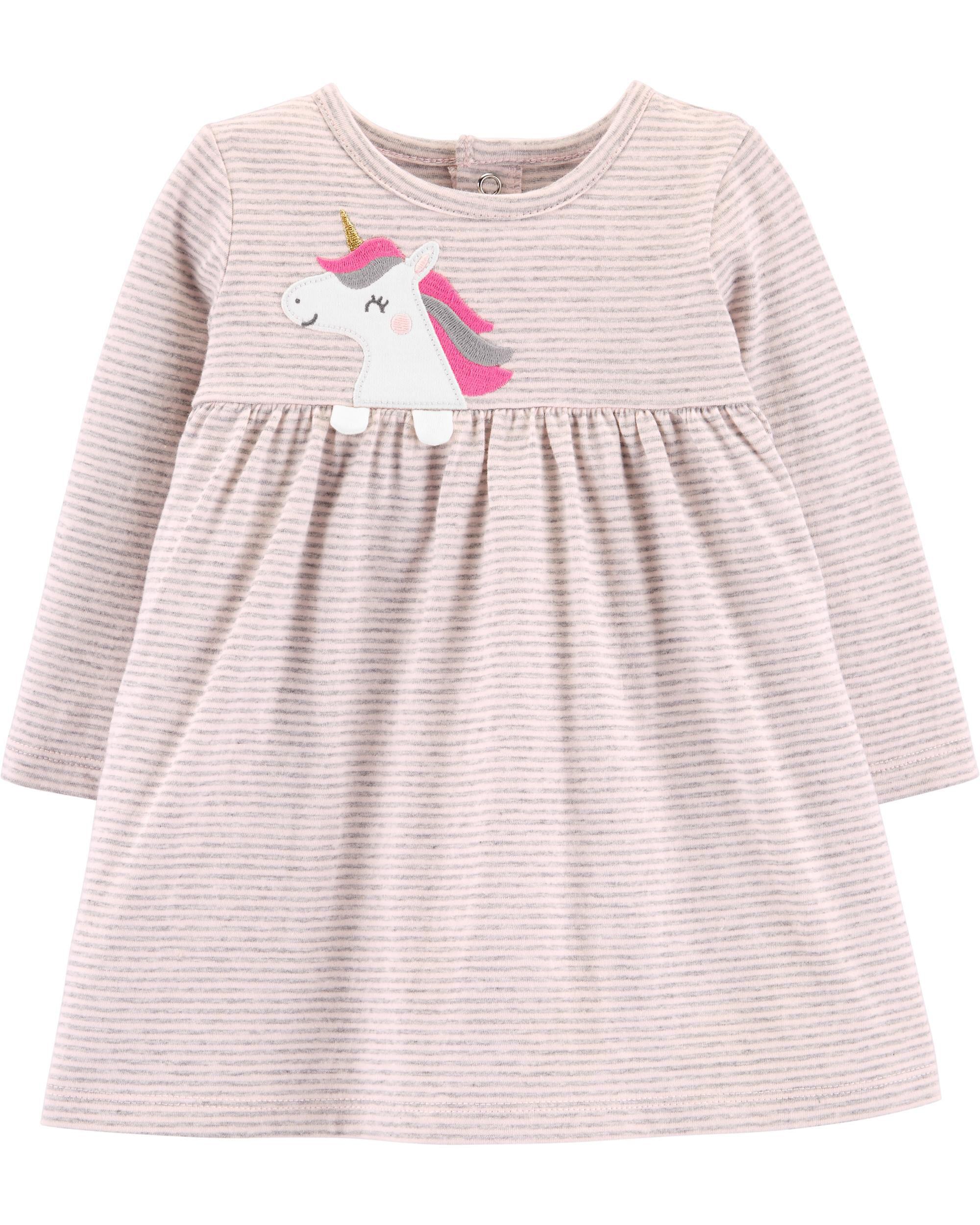 *Clearance*  Striped Unicorn Jersey Dress
