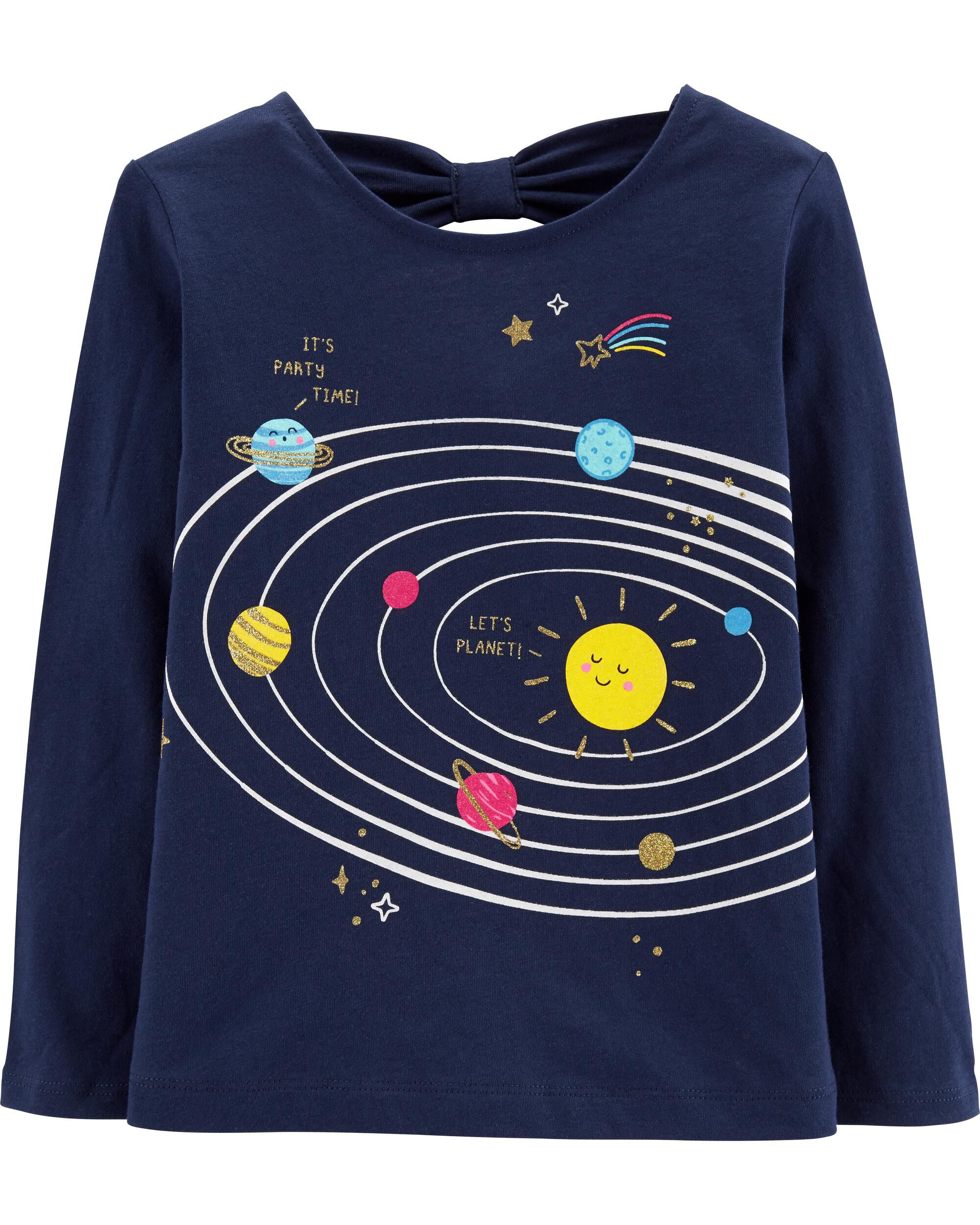 *Clearance*  Glitter Solar System Tee