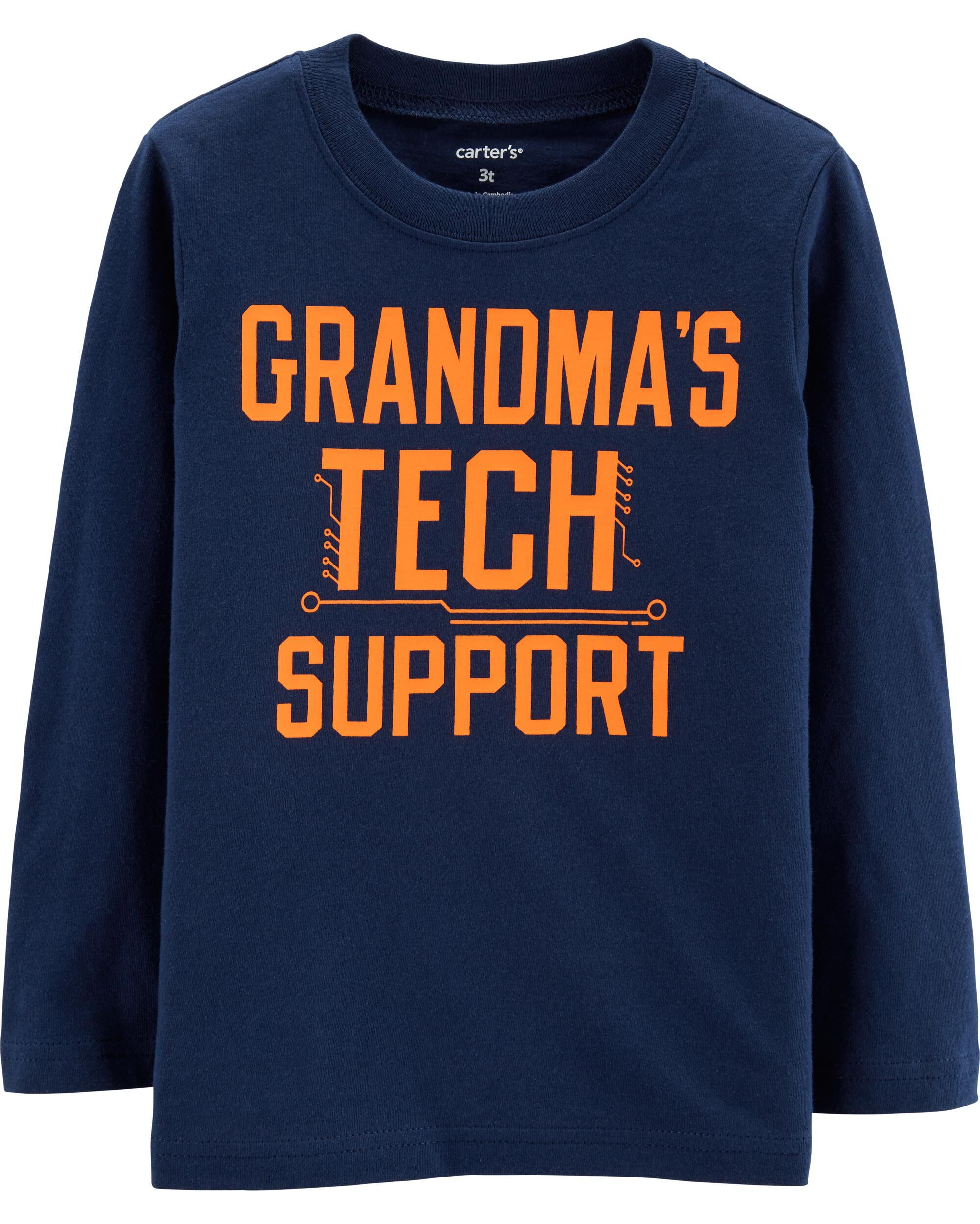 *Clearance*  Grandma's Tech Support Jersey Tee