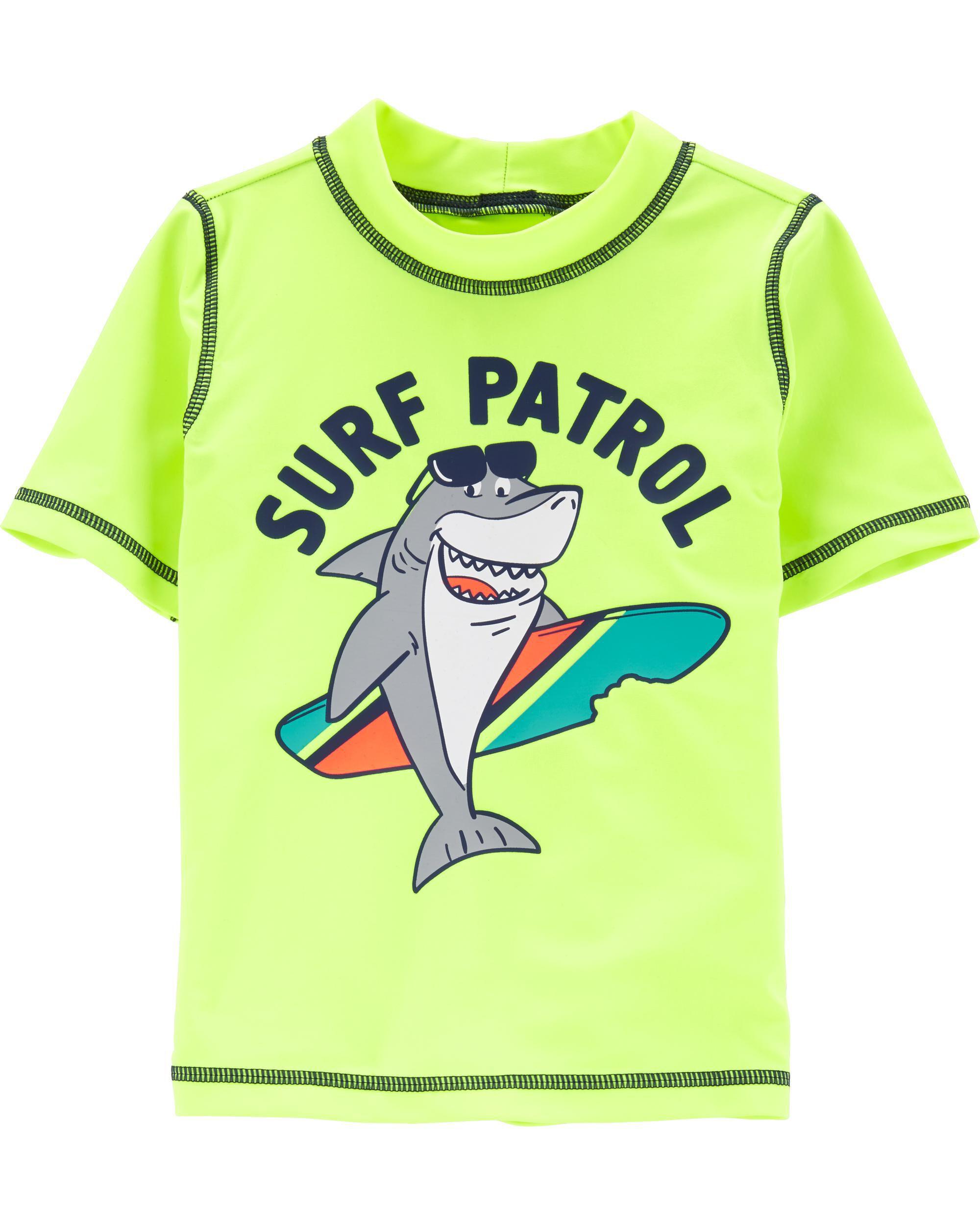 *Clearance*  Carter's Neon Shark Surf Patrol Ras...